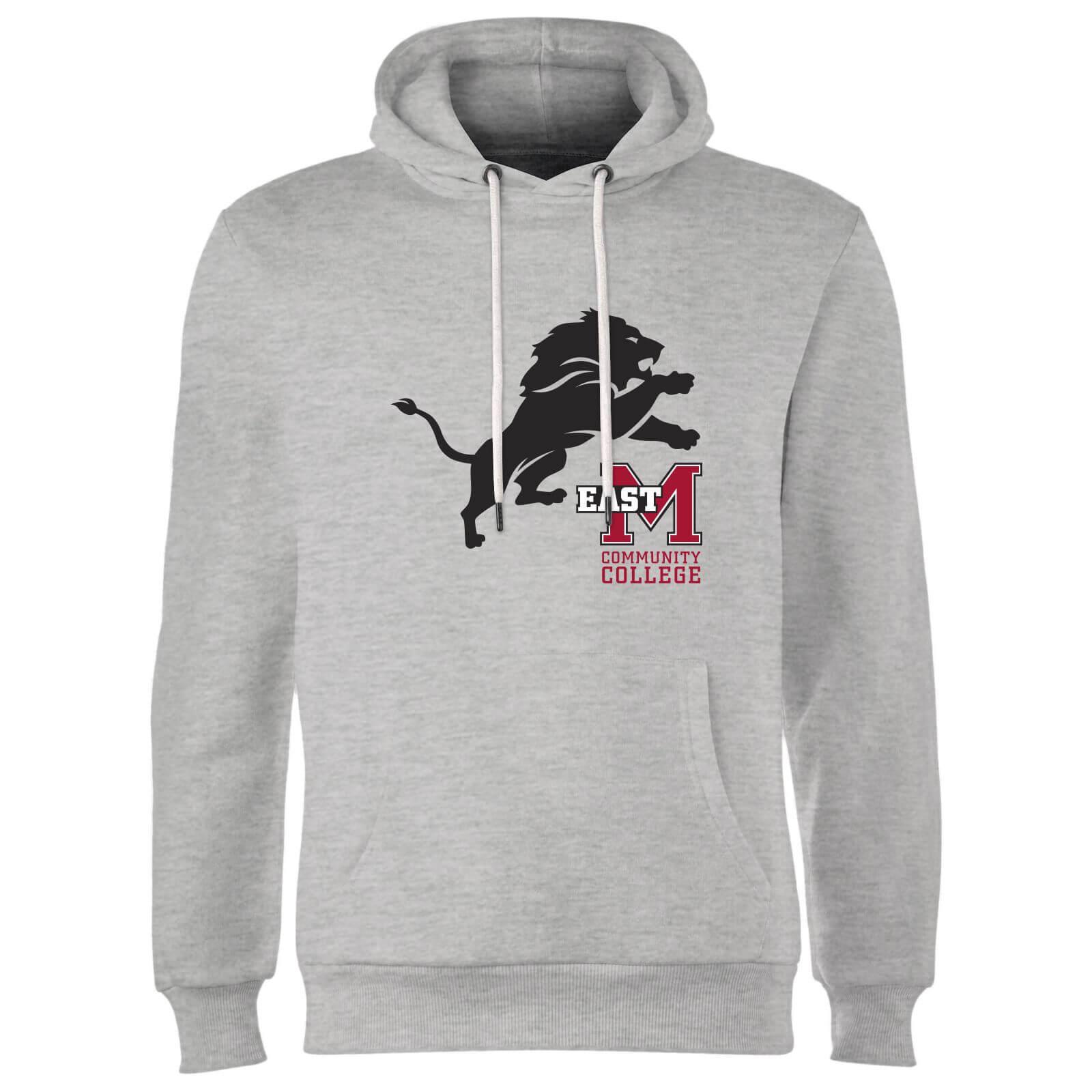 Sweat à Capuche Homme Lion et Logo - East Mississippi Community College -  Gris 1a6ab417a11