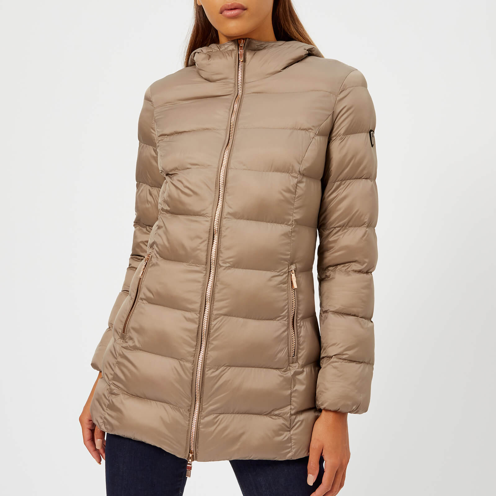 4738409810 Emporio Armani EA7 Women's Mountain Eco Heavy 3/4 Jacket - Cinder