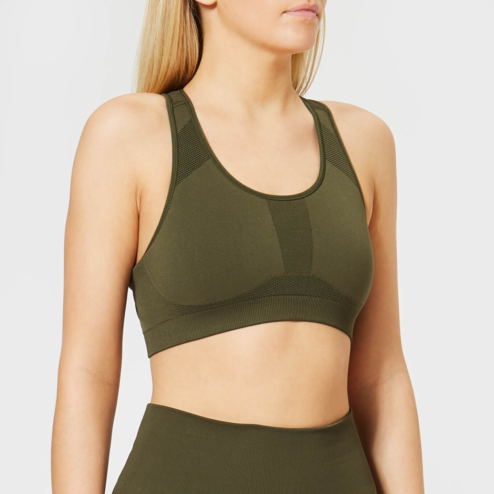 6ddff43afd9d77 Calvin Klein Performance Women s Racerback Sports Bra - Forest Night - Free  UK Delivery over £50