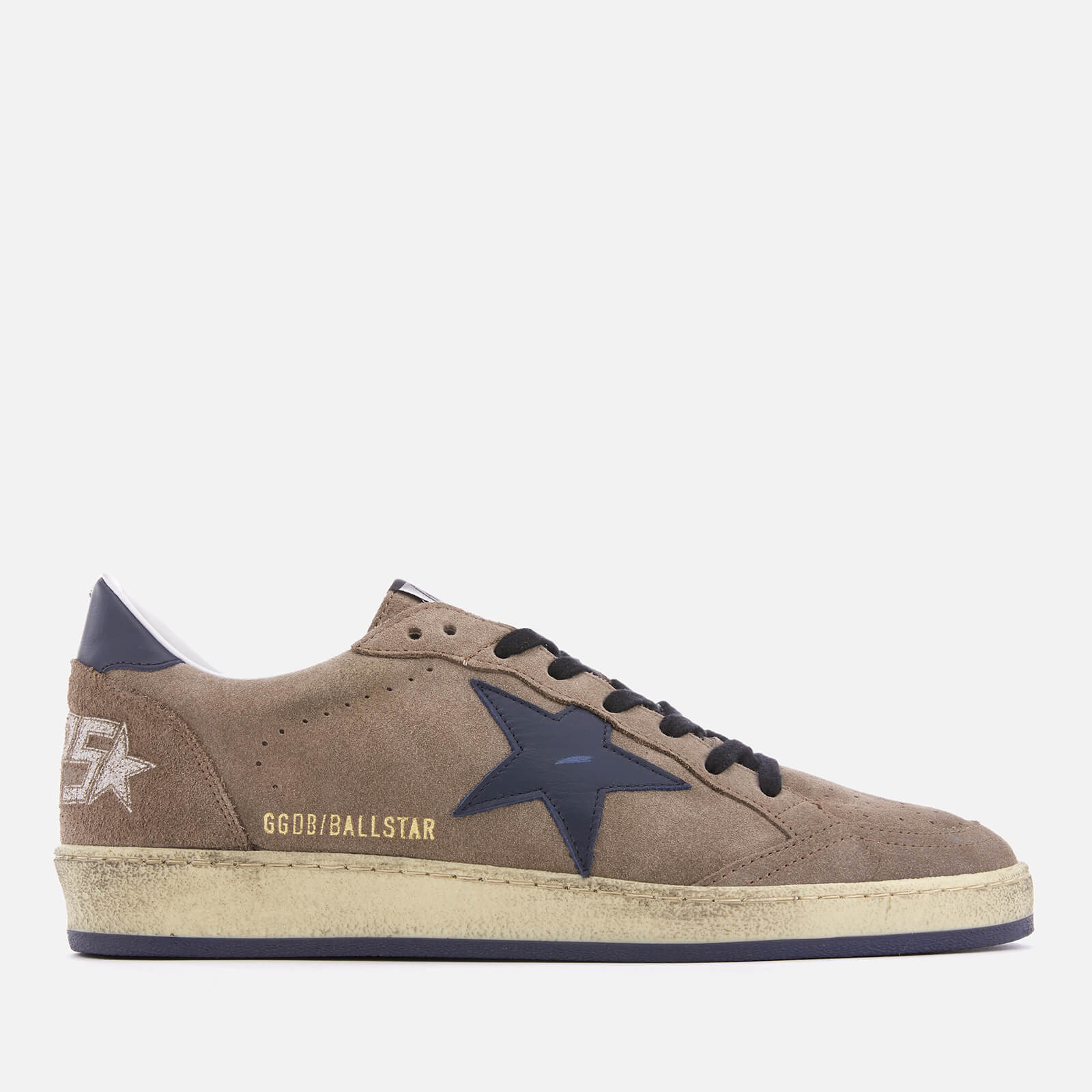04c218b8a9dab Golden Goose Deluxe Brand Men s Ball Star Sneakers - Brown Suede Blue Star  - Free UK Delivery over £50