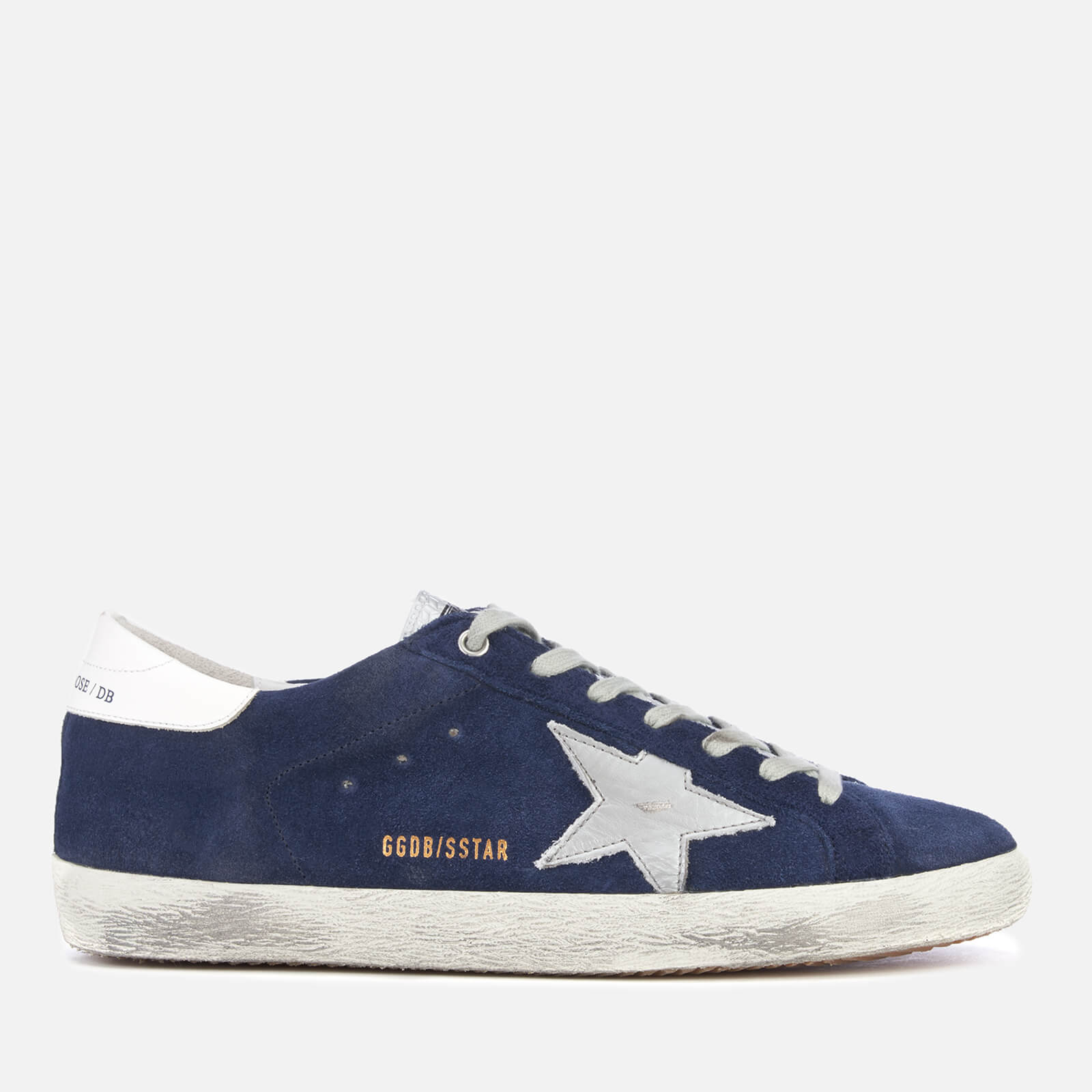 8834248fb7d2 Golden Goose Deluxe Brand Men s Superstar Sneakers - Blue Suede Silver -  Free UK Delivery over £50