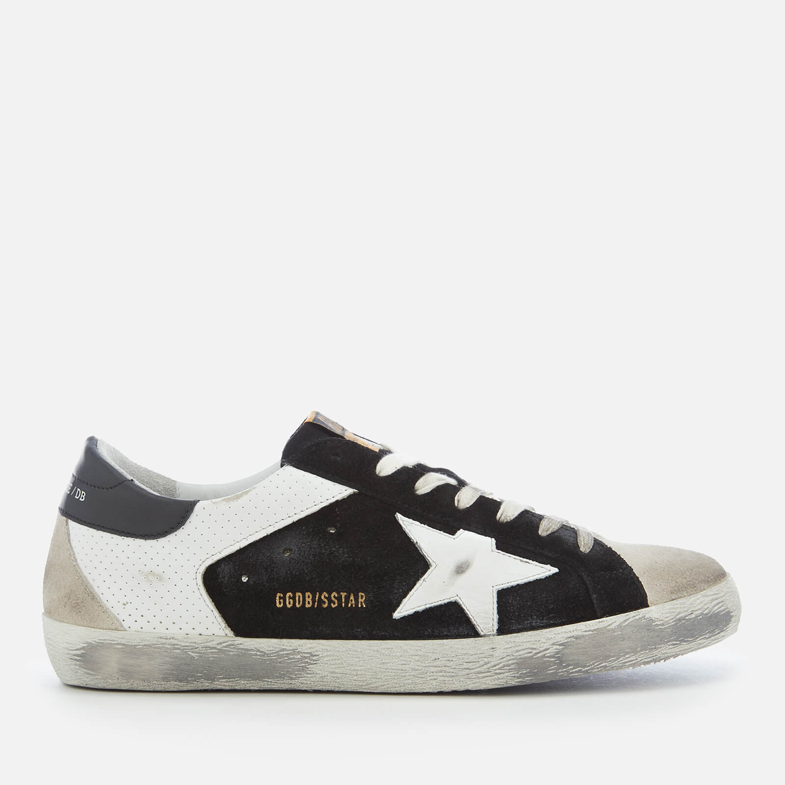 Golden Goose Deluxe Brand Men s Superstar Sneakers - White Spot Black Suede  - Free UK Delivery over £50 6c36226f9e6
