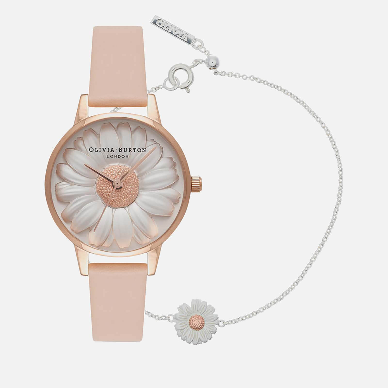 0de60d194f3f68 Olivia Burton Women's 3D Daisy Watch and Bracelet Gift Set - Rose ...