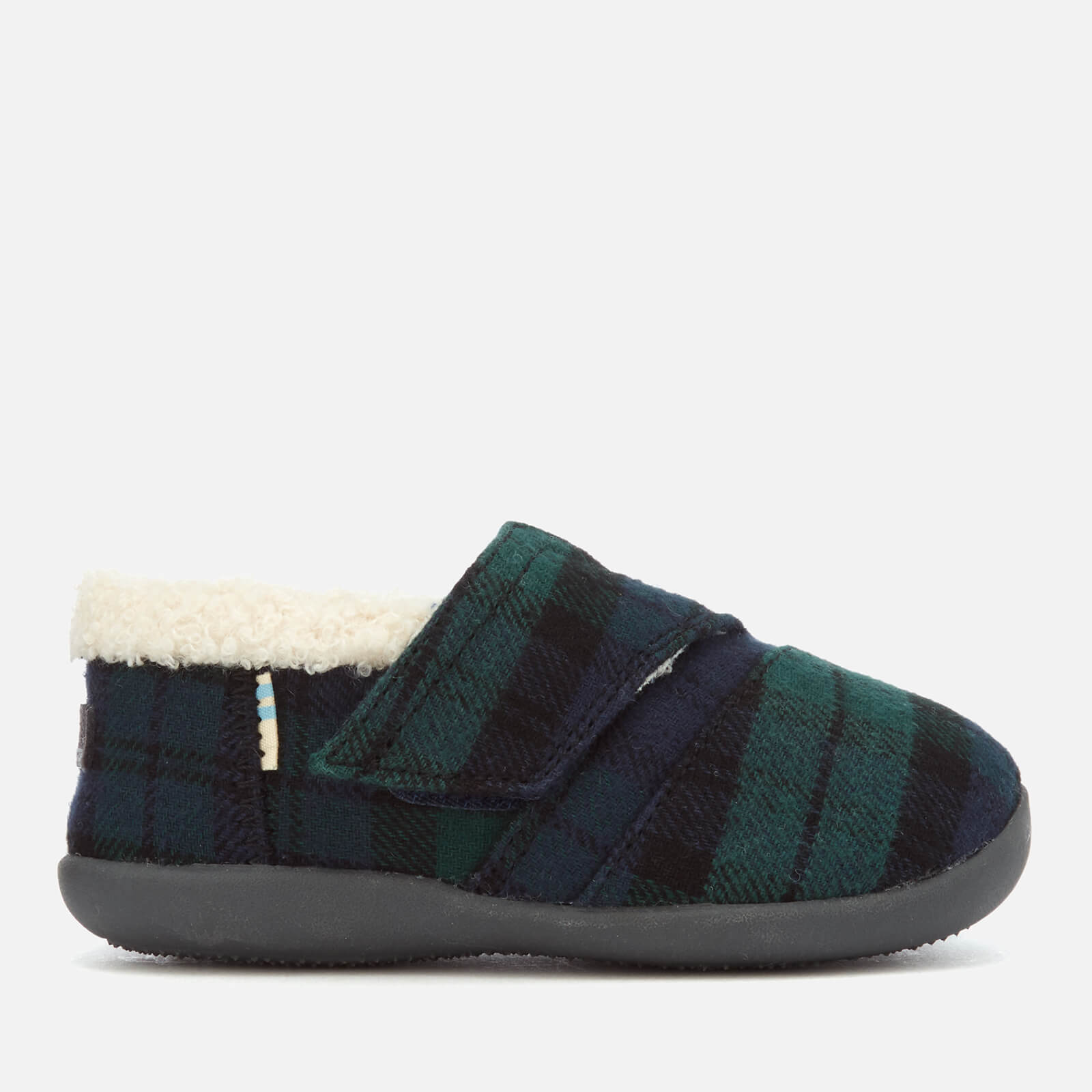 f18515525b9 TOMS Toddlers  Plaid Felt Slippers - Spruce Junior Clothing