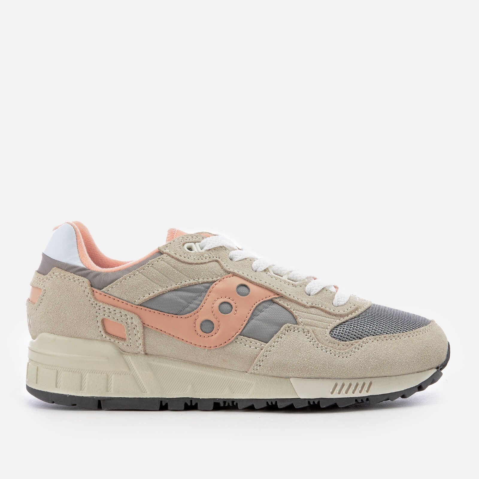 Details about Saucony Shadow 5000 Vintage Trainers Off White Grey Red 20% OFF!