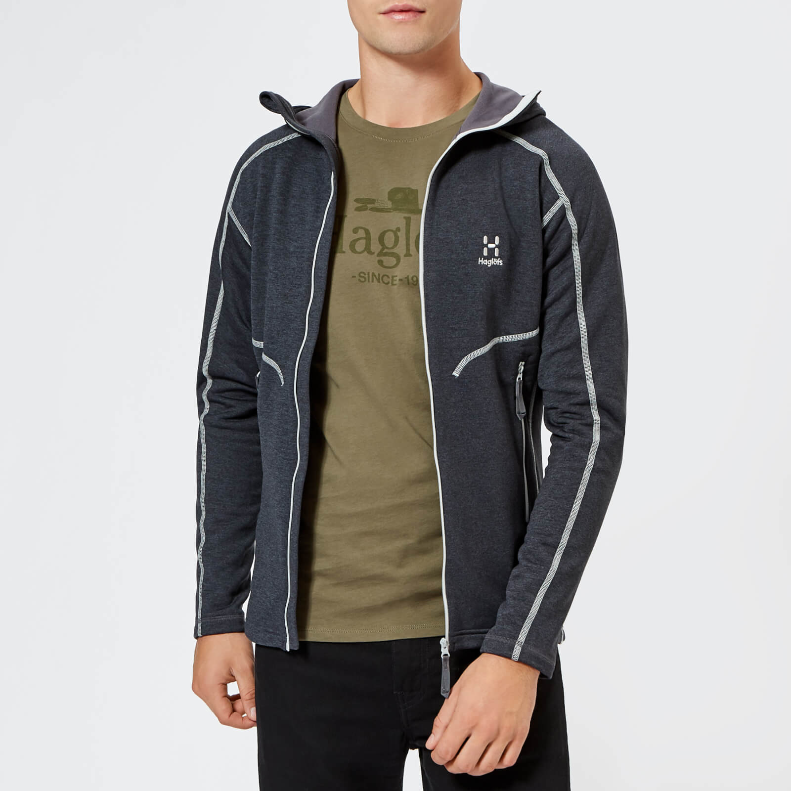 b5efd6b2623c Haglofs Men's Heron Hooded Fleece Jacket - Slate Mens Clothing | TheHut.com