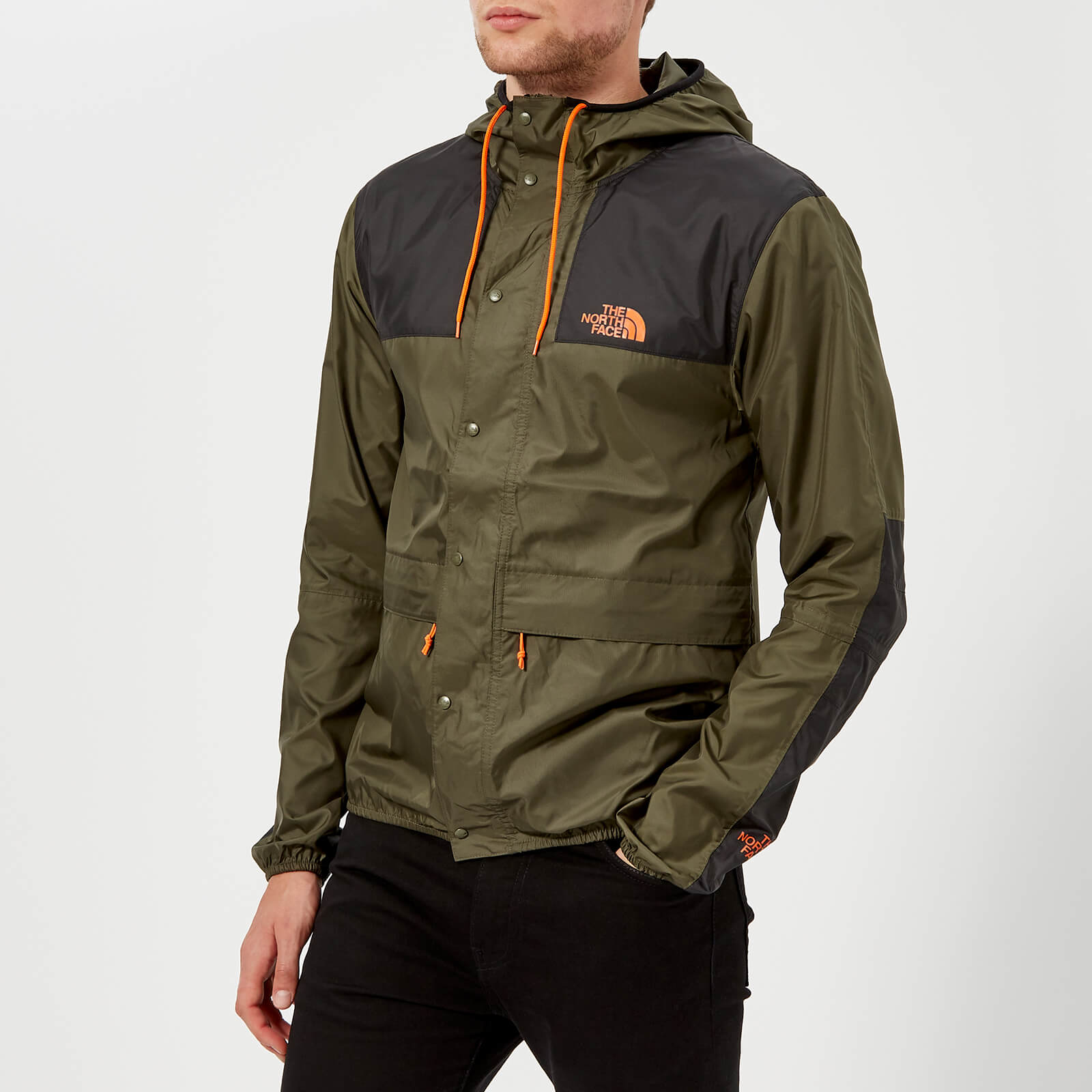 8166b842c The North Face Men's Mountain 1985 Seasonal Celebration Jacket - New Taupe  Green/TNF Black