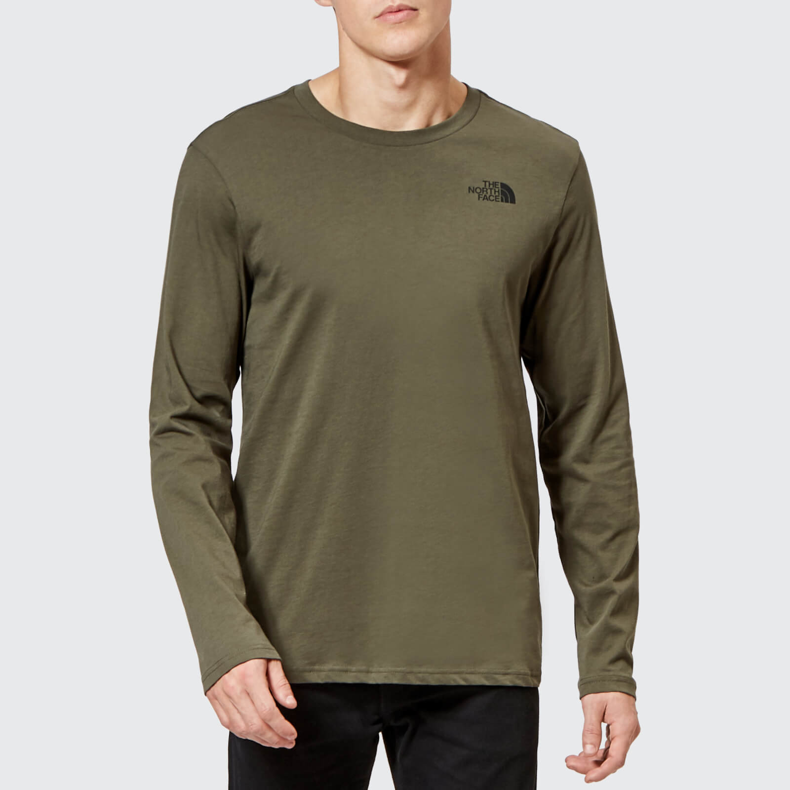b849a0884 The North Face Men's Long Sleeve Easy T-Shirt - New Taupe Green