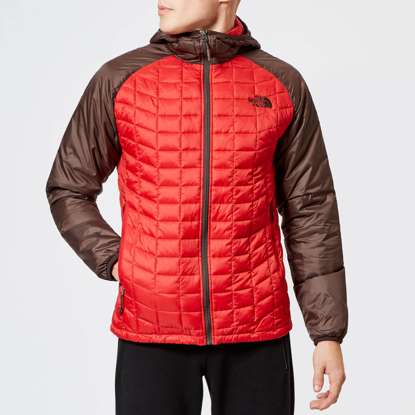9c9608af9 The North Face Men's Thermoball Sport Hooded Jacket - Rage Red/Bittersweet  Brown