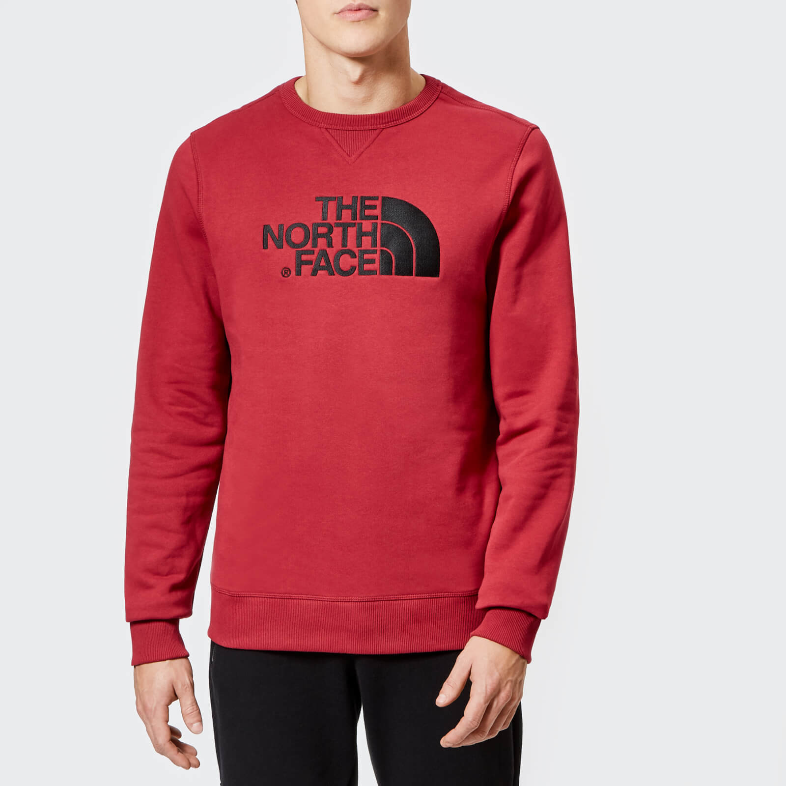 eb296bd8 The North Face Men's Drew Peak Crew Neck Sweatshirt - Rumba Red Mens  Clothing | TheHut.com