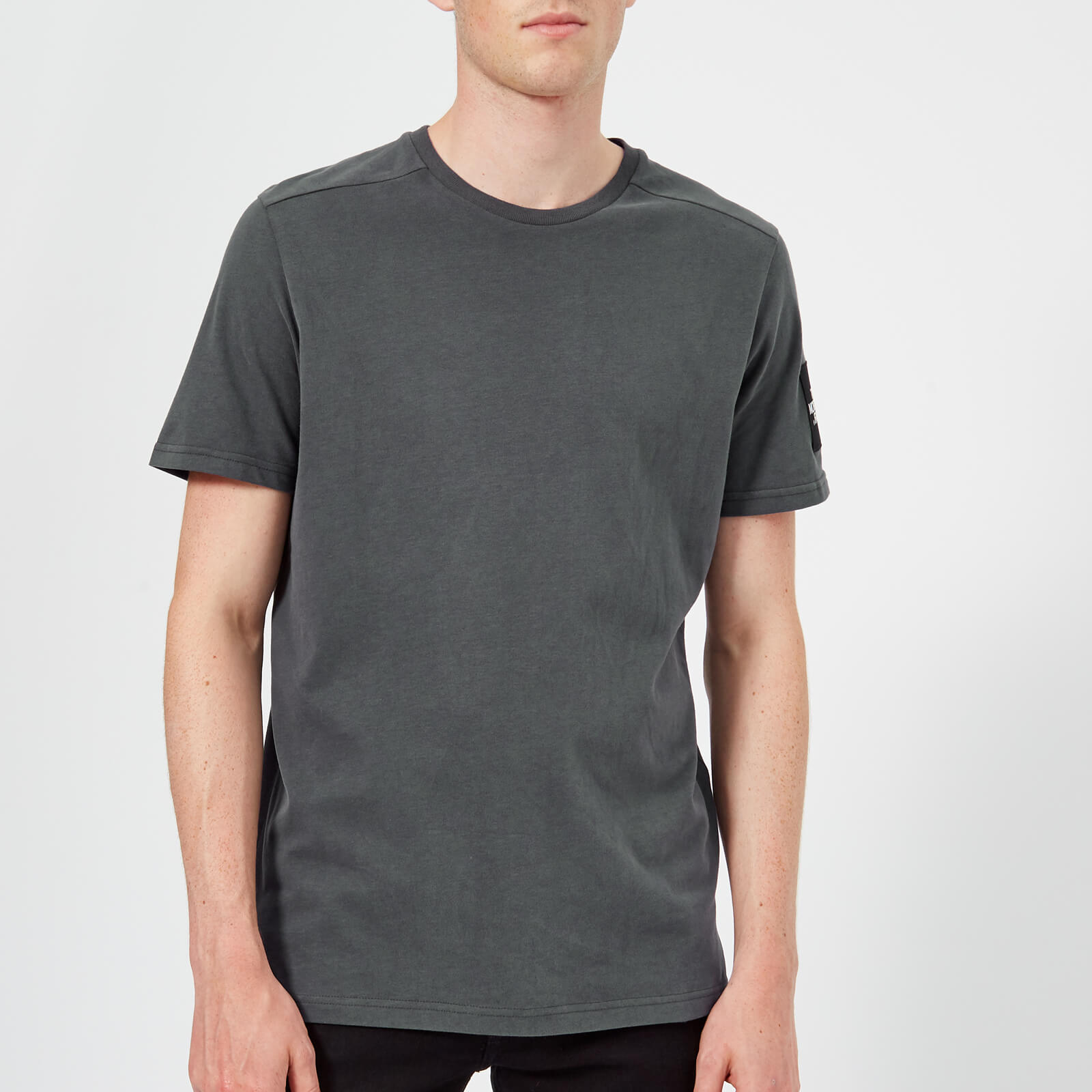 f301fcd62 The North Face Men's Fine 2 Short Sleeve T-Shirt - Asphalt Grey