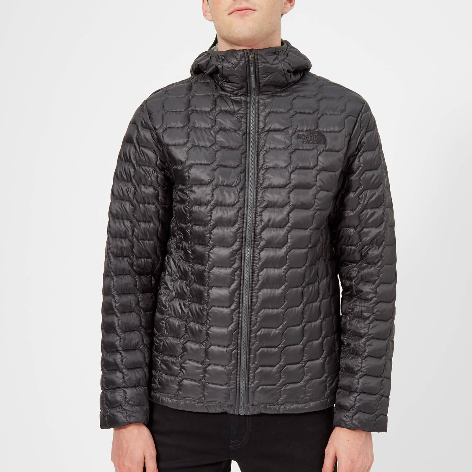 f2c081158 The North Face Men's Thermoball Hooded Jacket - Asphalt Grey/Fusebox Grey  Process Print