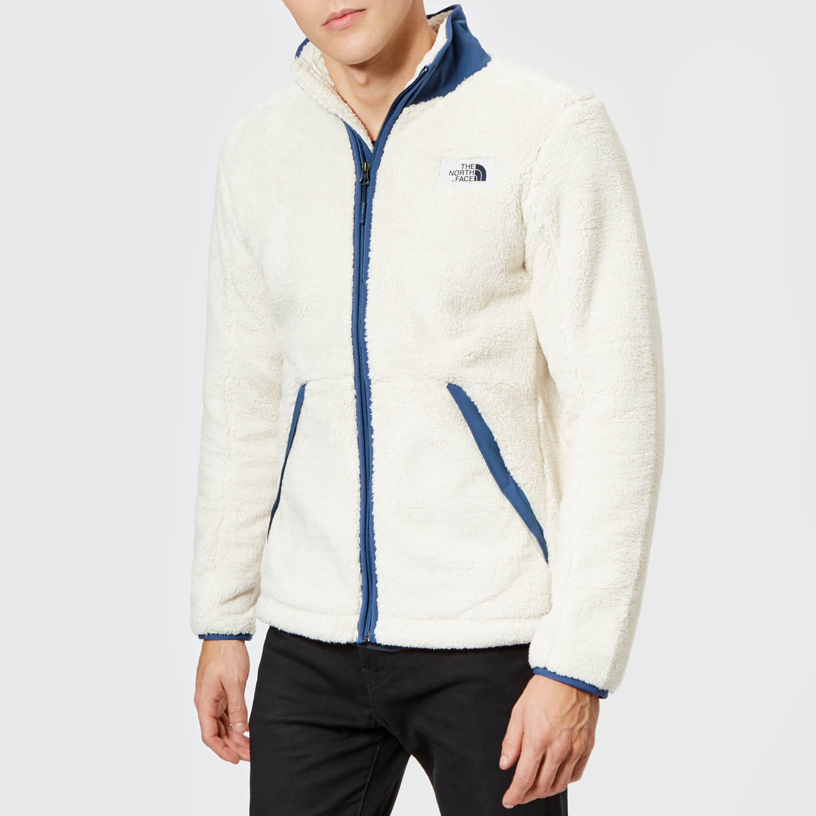 19b9b80a2c07 ... The North Face Men s Campshire Full Zip Pile Fleece - Vintage White Shady  Blue