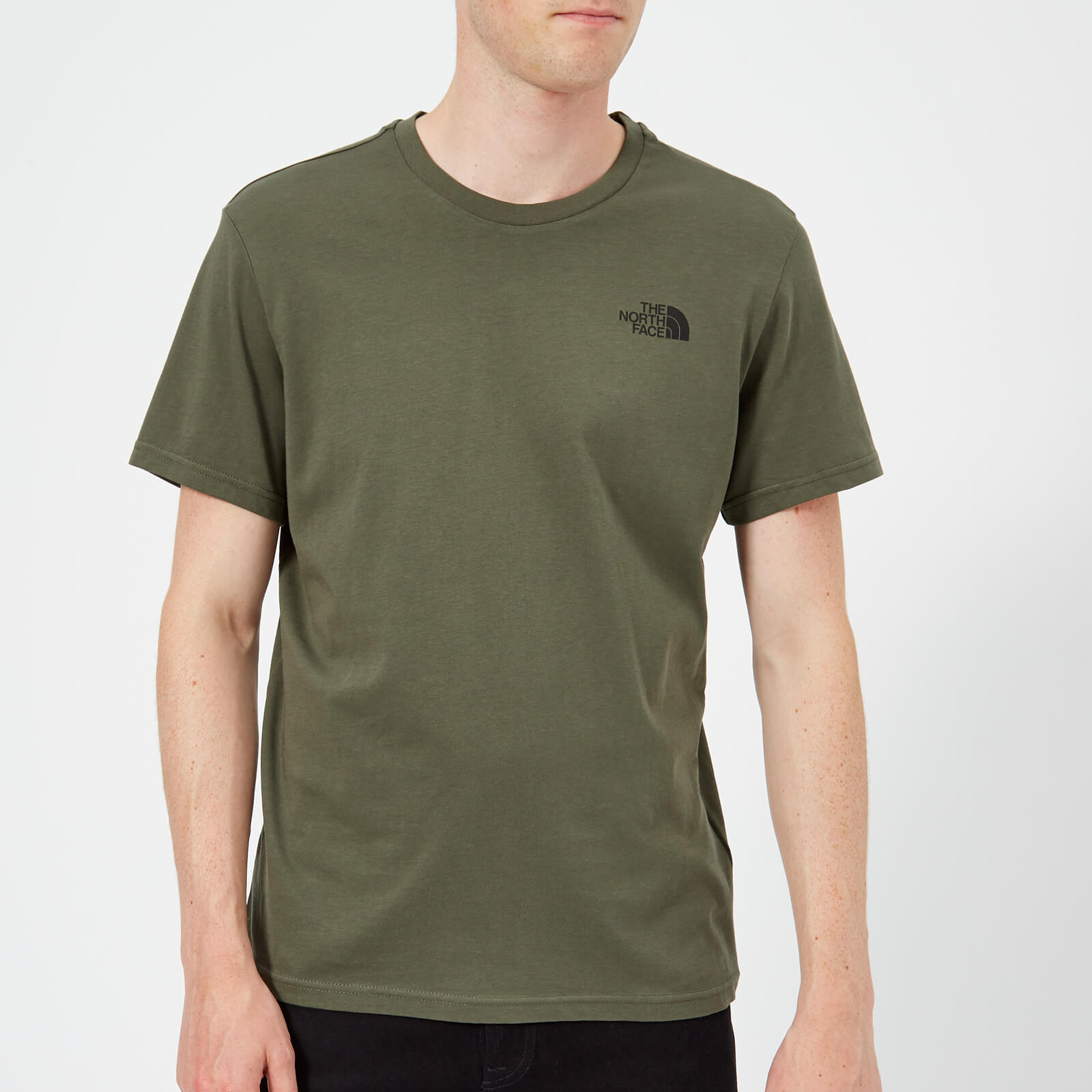 4a9d9e408010 The North Face Men s Short Sleeve Simple Dome T-Shirt - New Taupe Green  Clothing