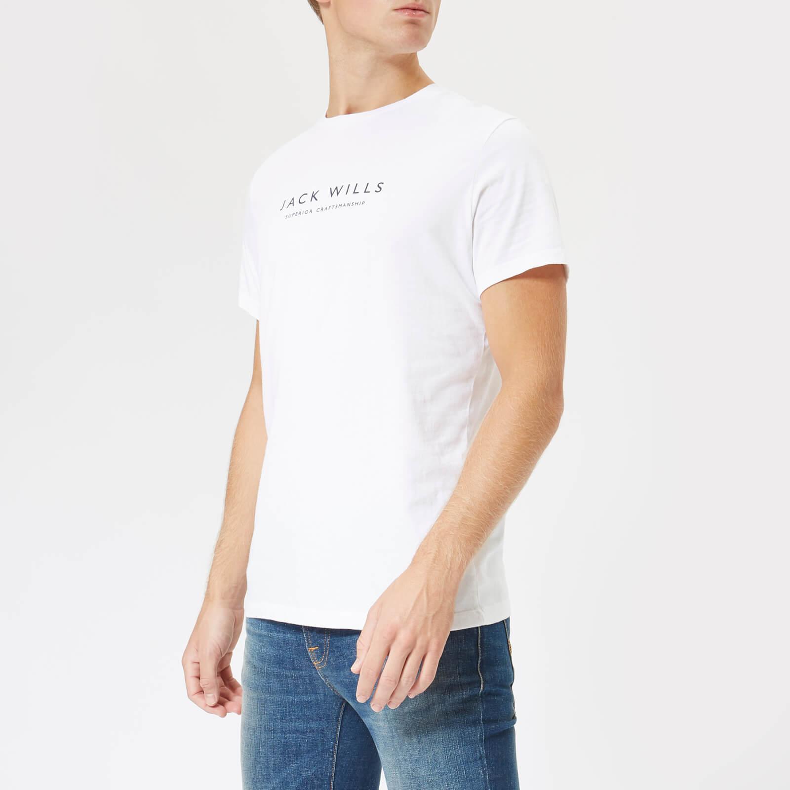 7e4421a142 Jack Wills Men's Graphic T-Shirt - White Clothing   TheHut.com