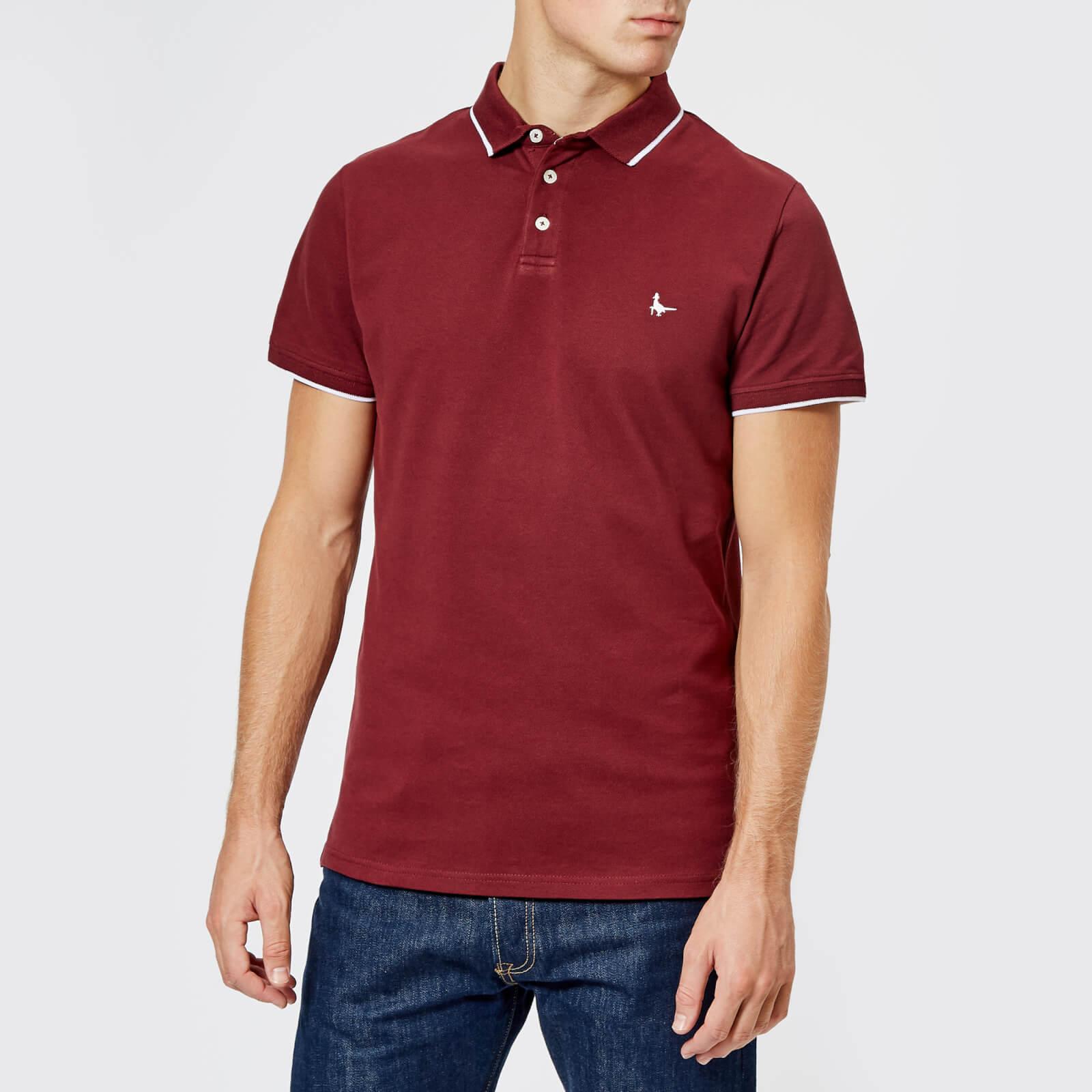 5a4d68958a9 Jack Wills Men's New Classic Polo Shirt - Damson Clothing   TheHut.com
