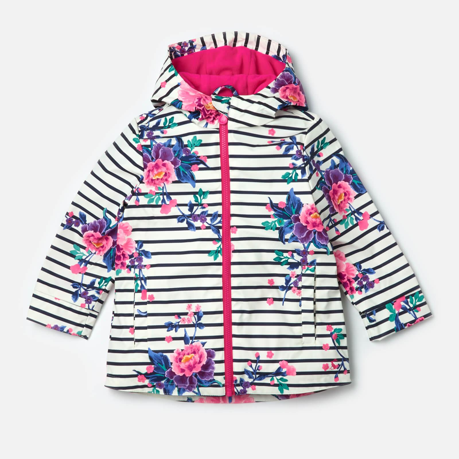480e56cf7 Joules Girls' Raindance Waterproof Coat - Chinoise Stripe Clothing |  TheHut.com