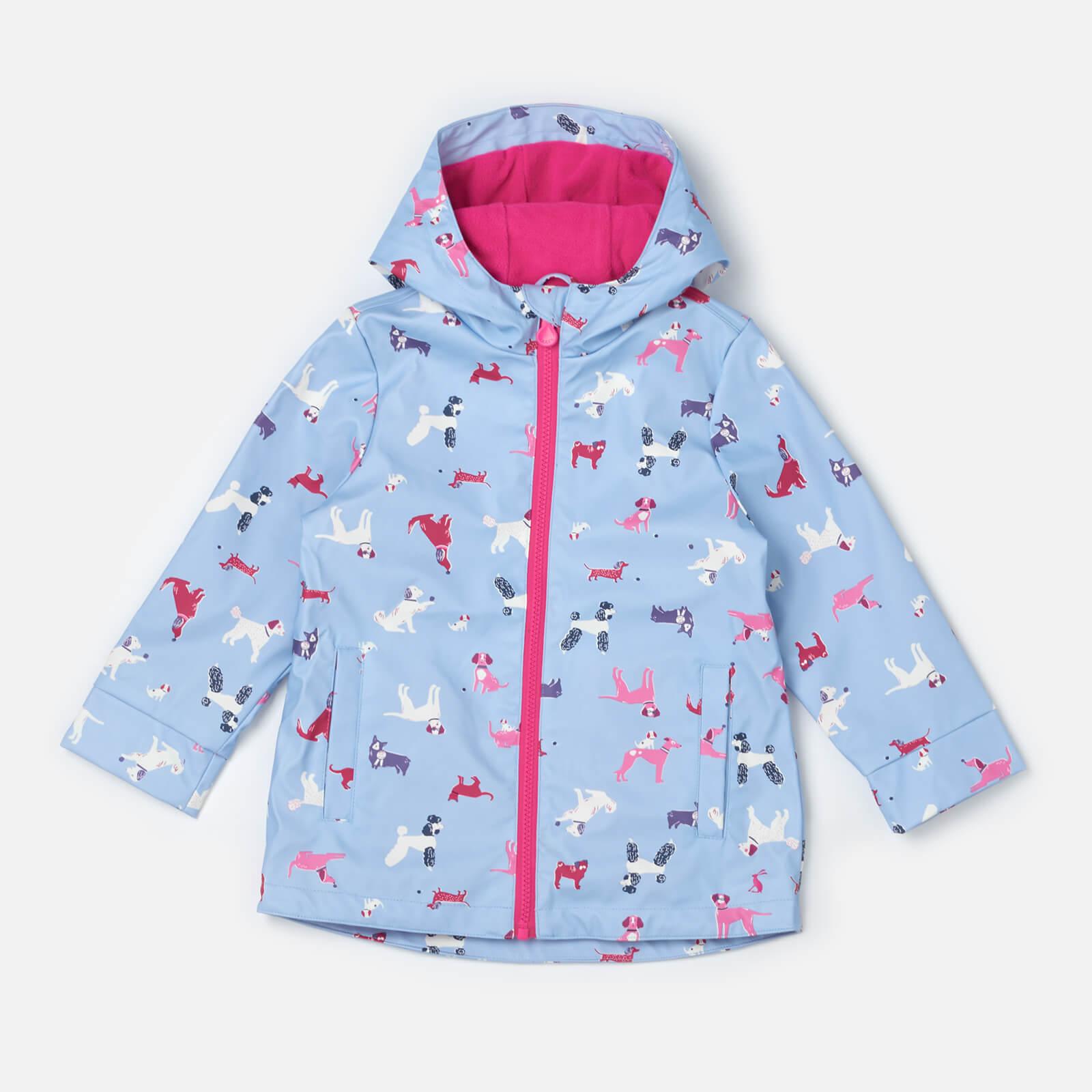 3b1b999a7 Joules Girls' Raindance Waterproof Coat - Sky Blue Dog Clothing | TheHut.com