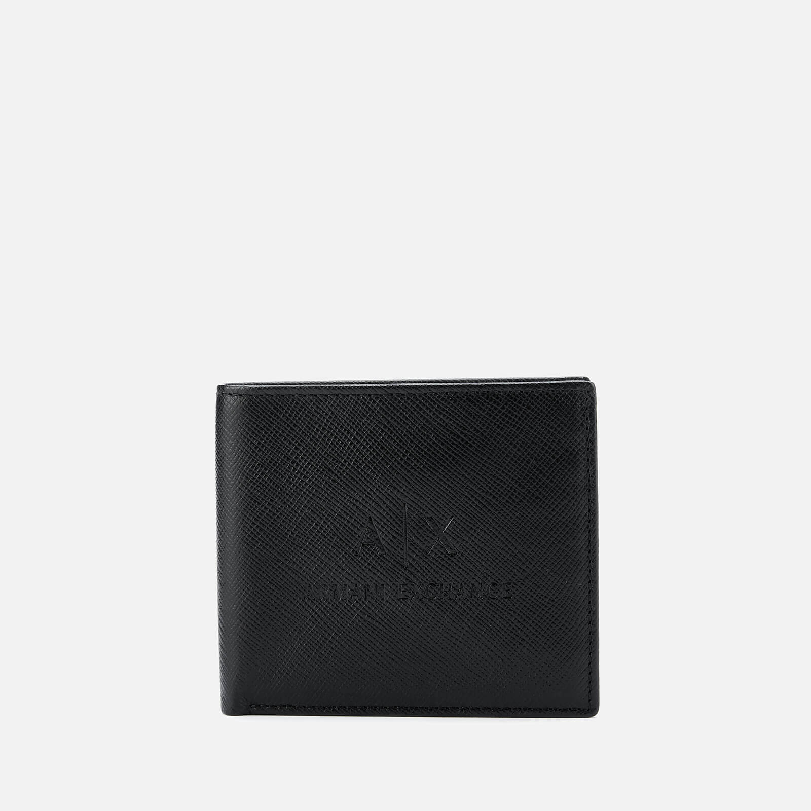 reputable site 1e449 c1031 Armani Exchange Men's AX Logo Bifold Wallet with Credit Card Holder - Black