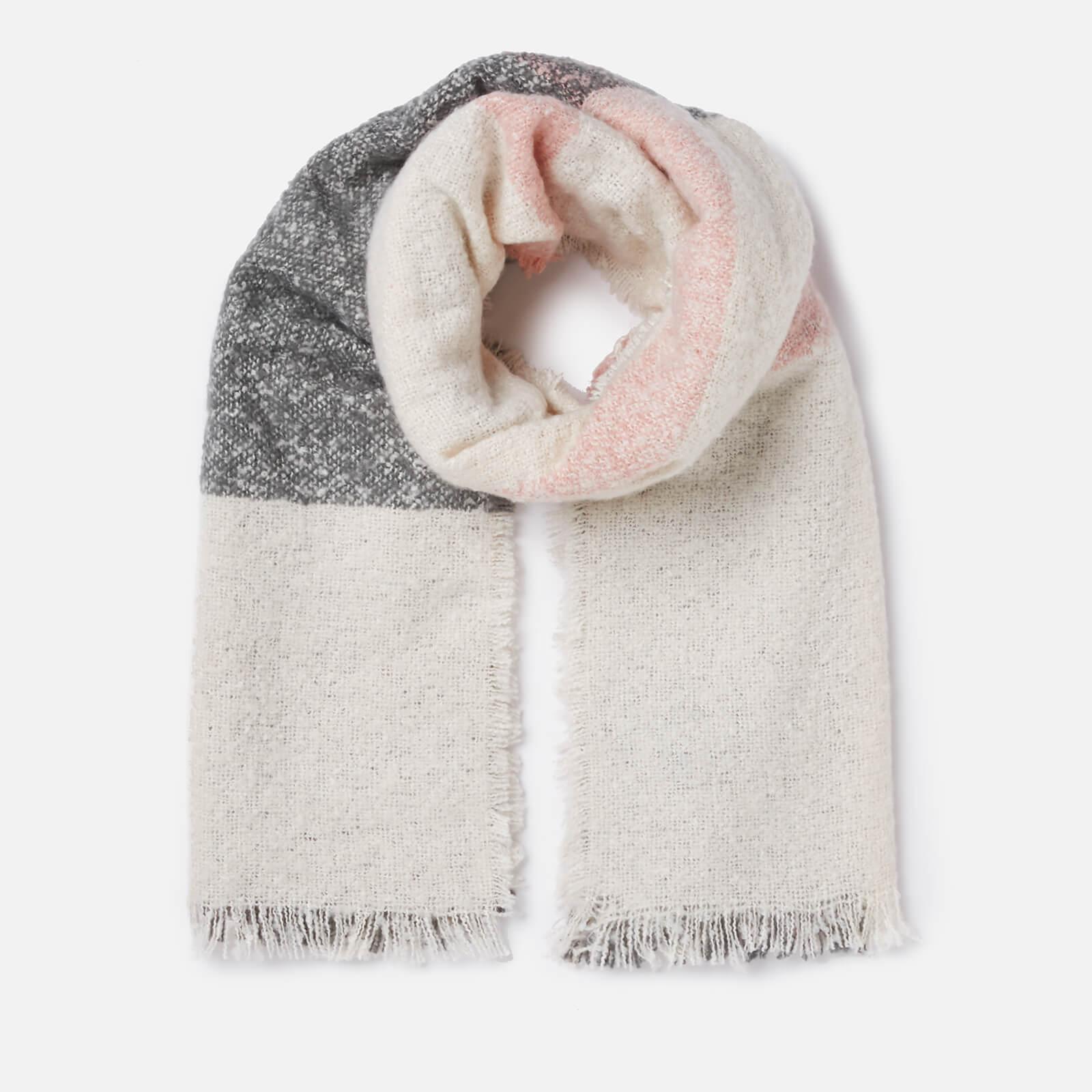 Barbour Women's Plaid Boucle Wrap - Ecru/Pink/Grey