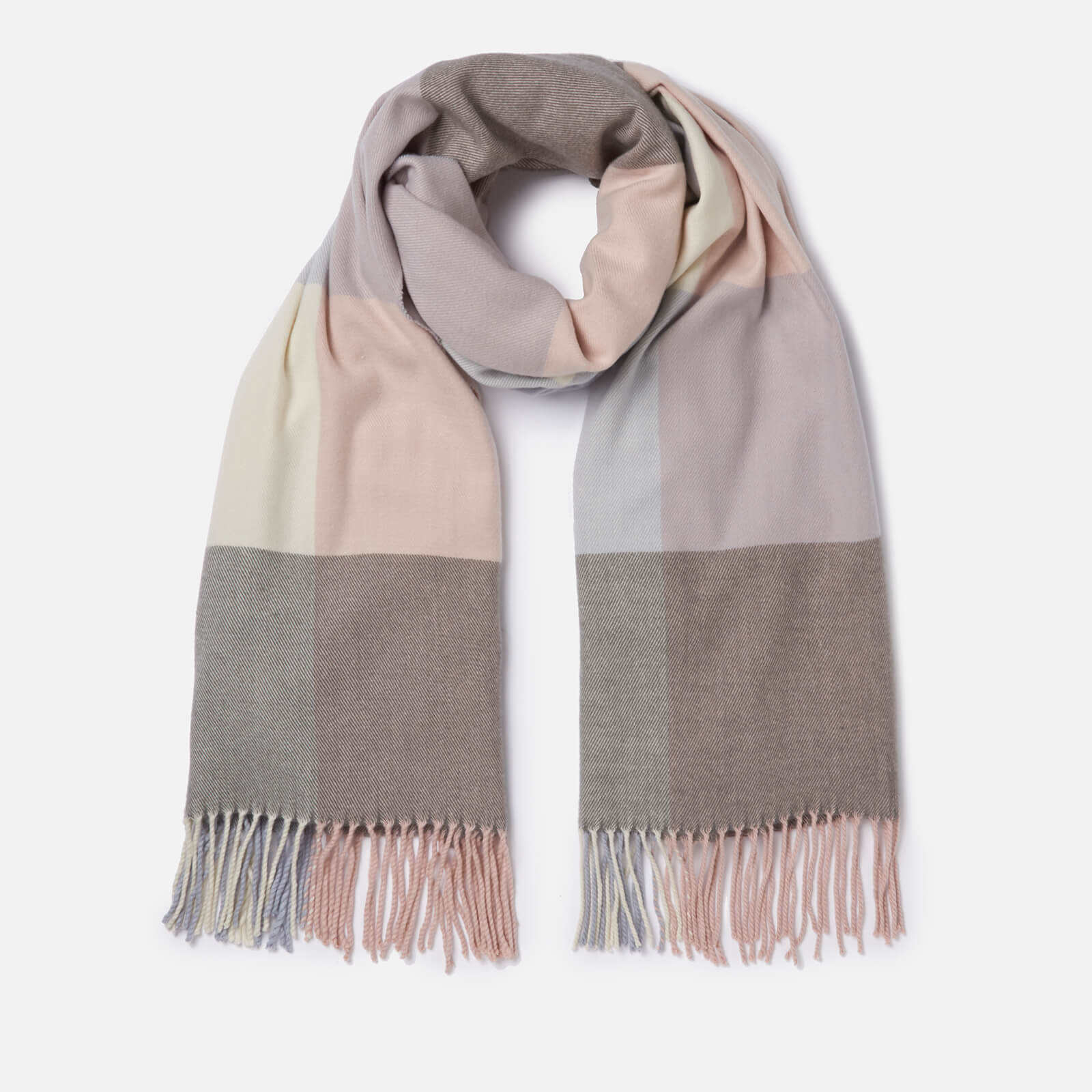 185e7a1182fcc Barbour Women's Pastel Check Scarf - Blue/Pink/Grey