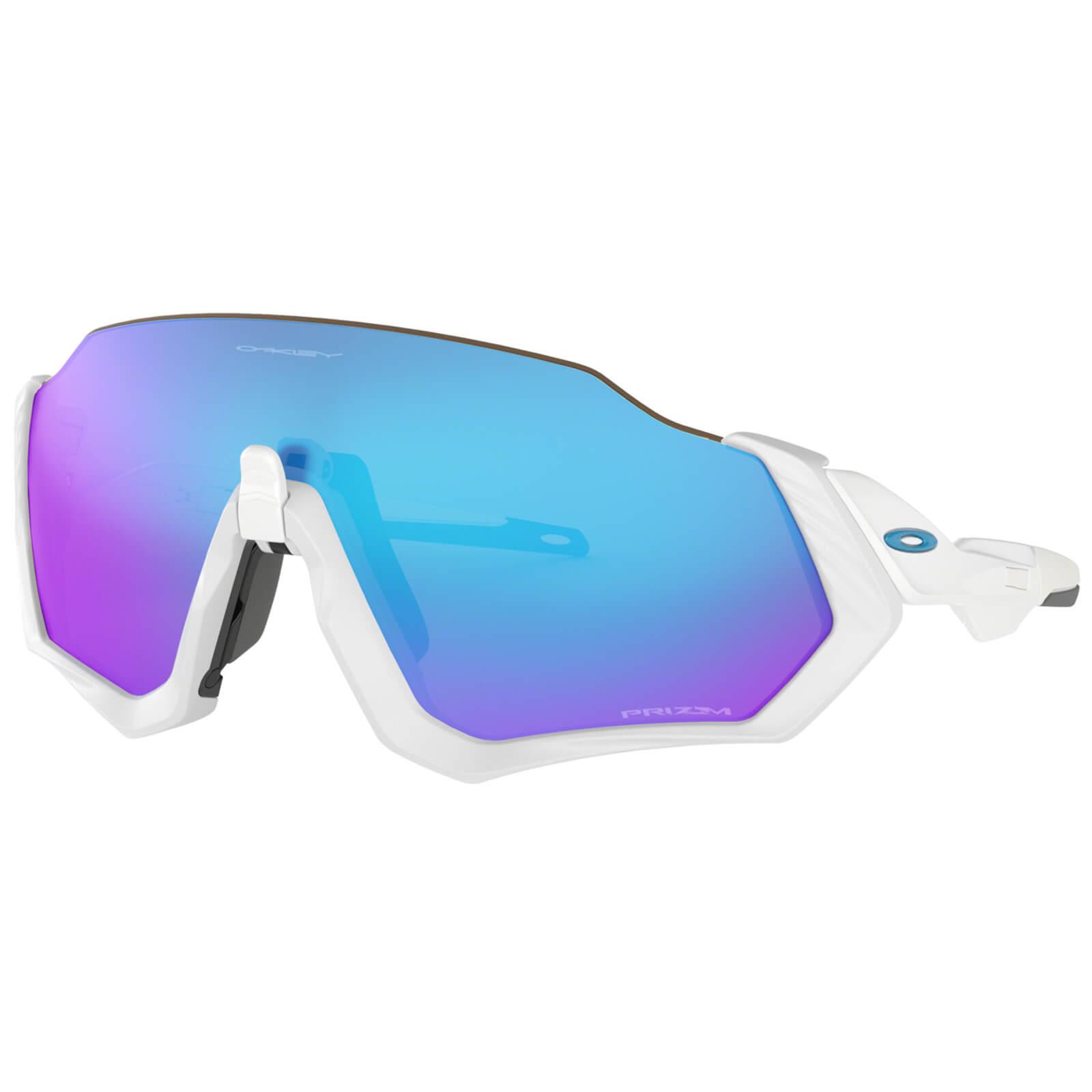 a2974dc52b272 Oakley Flight Jacket Sunglasses - Polished White Prizm Sapphire ...