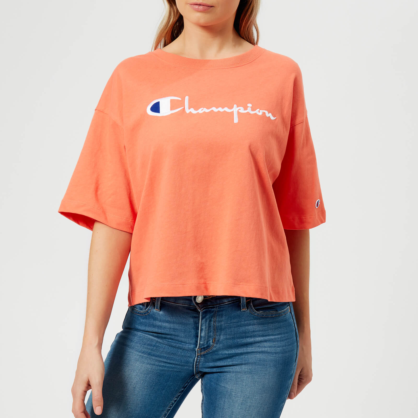 b2d9af2ddc94 Champion Women's Maxi T-Shirt - Orange - Free UK Delivery over £50