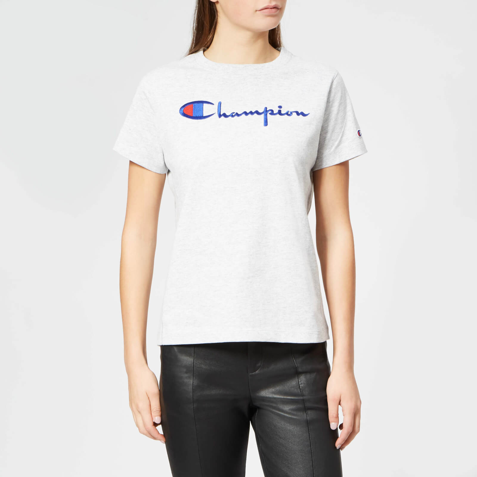 4952893c Champion Women's Crew Neck T-Shirt - Grey - Free UK Delivery over £50