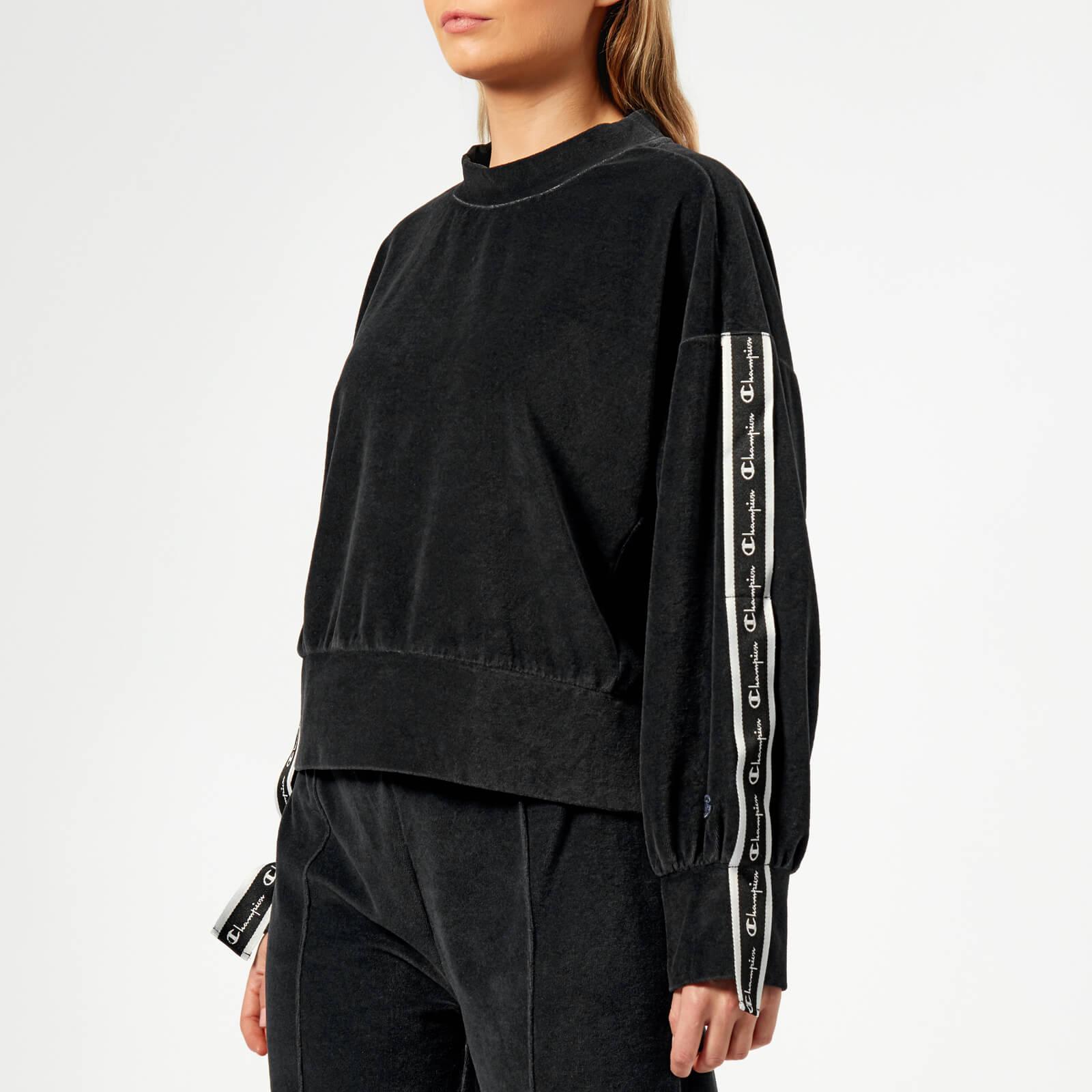 521b572e9 Champion Women's Crew Neck Velour Sweatshirt - Black