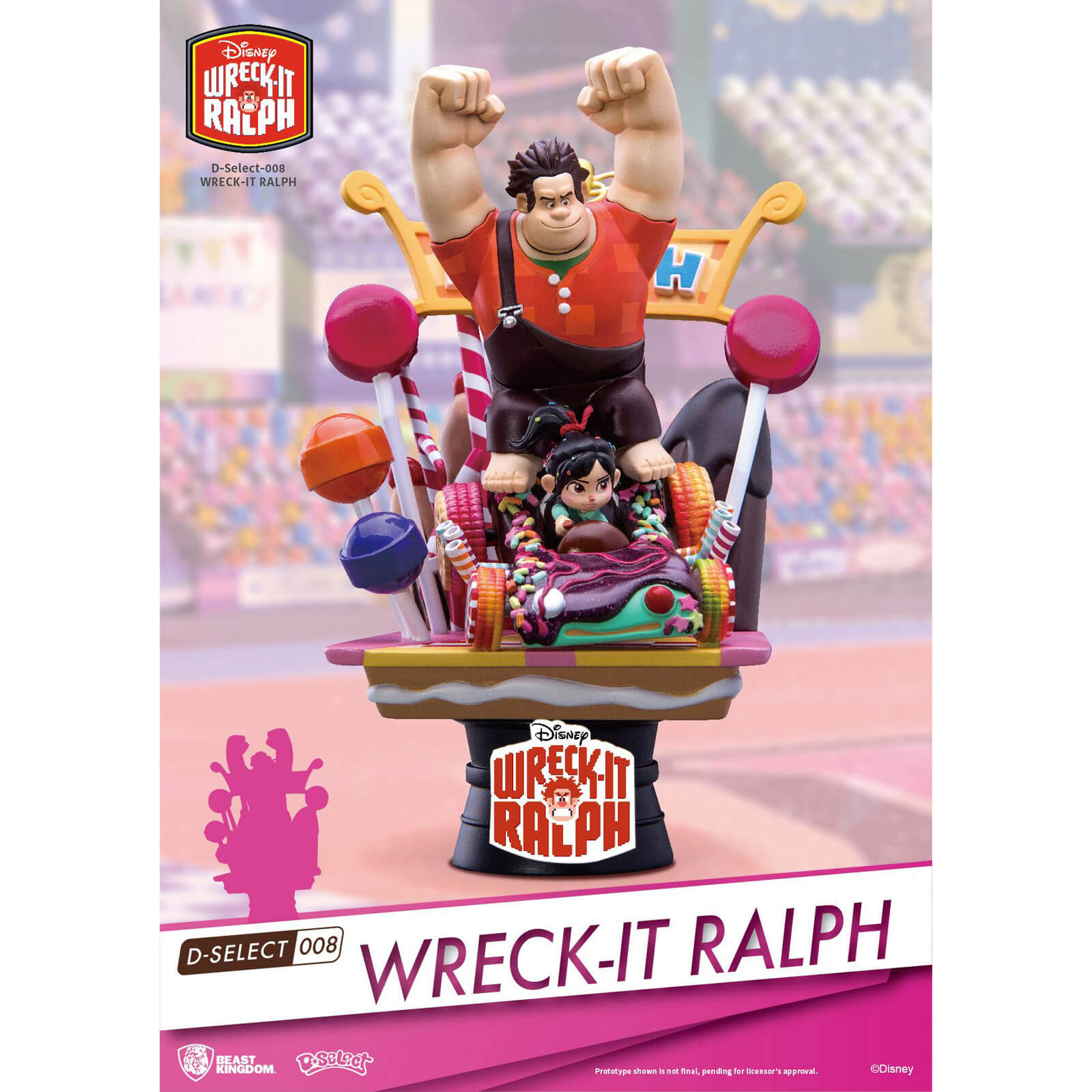 Wreck-It Ralph D-Select PVC Diorama 14 cm