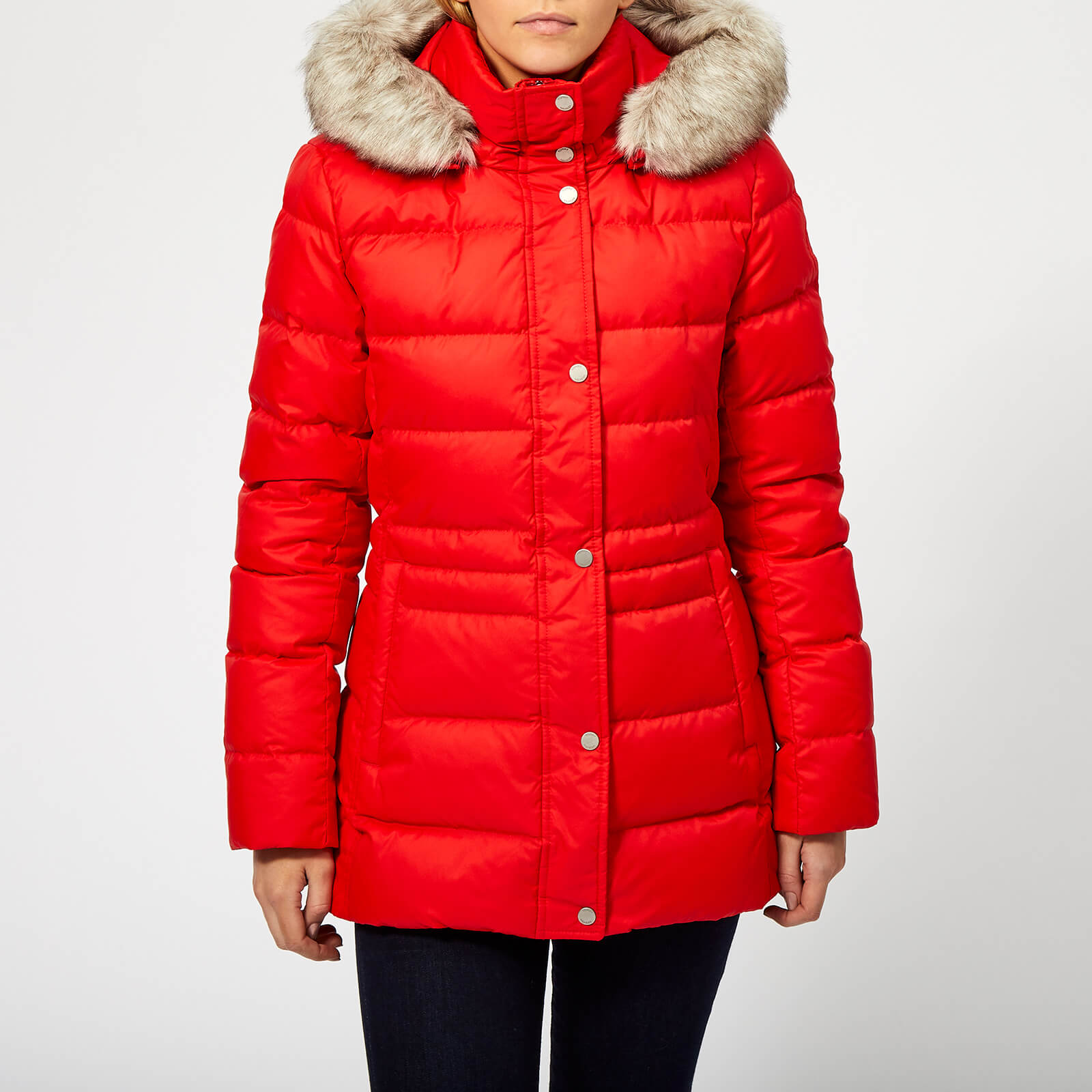 4cae4a2a Tommy Hilfiger Women's New Tyra Down Jacket - Flame Scarlet Womens Clothing  | TheHut.com