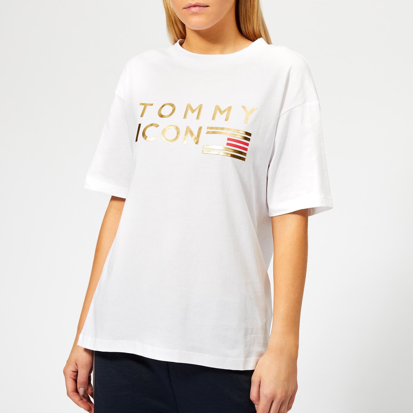 696fd9a4c Tommy Hilfiger Women's Icons Nellie Crew Neck T-Shirt - White Womens  Clothing | TheHut.com