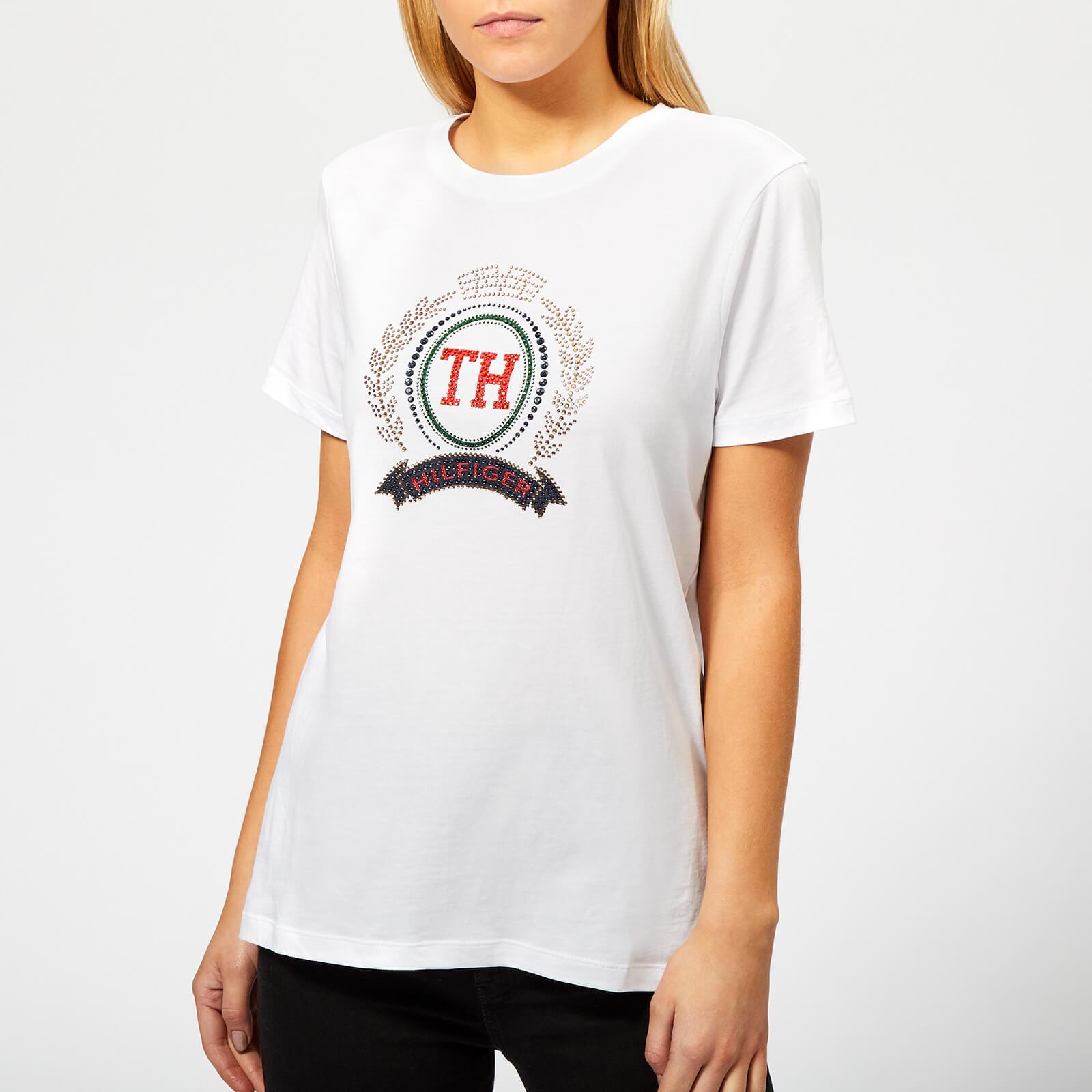 174462941 Tommy Hilfiger Women s Merina Crew Neck T-Shirt - White Womens Clothing