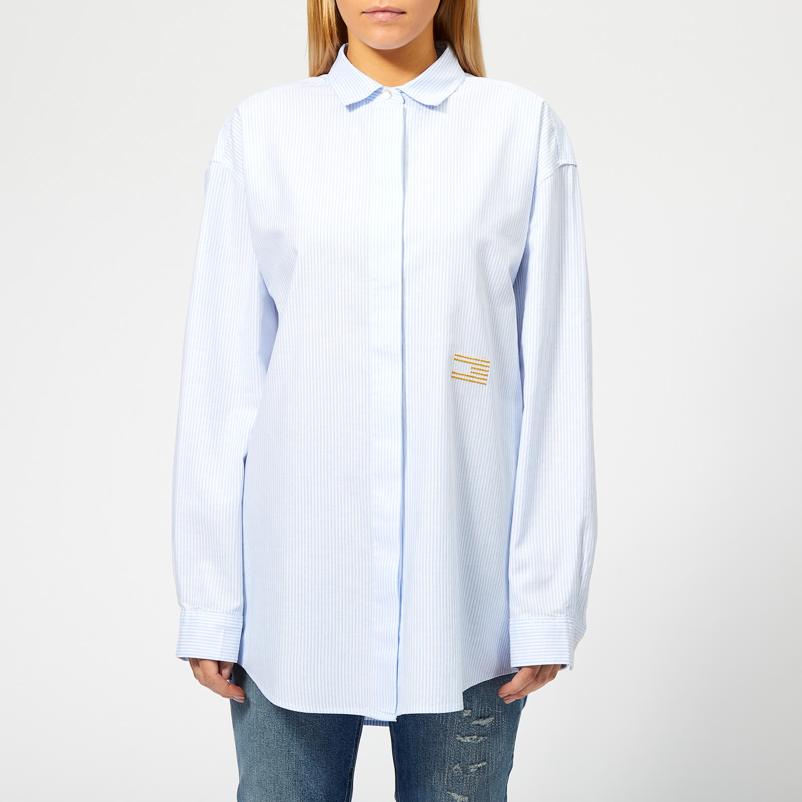 8709d649a5e Tommy Hilfiger Women's Icons Pames Boyfriend Shirt - Blue Stripe Womens  Clothing | TheHut.com