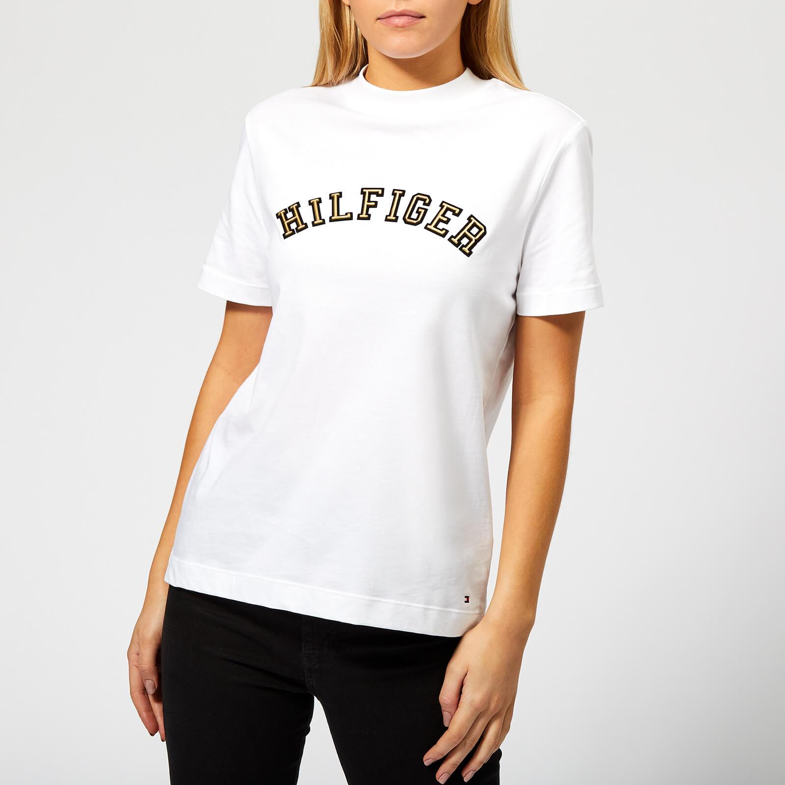 e6e4b920 Tommy Hilfiger Women's Mimi High Neck T-Shirt - White Womens Clothing |  TheHut.com