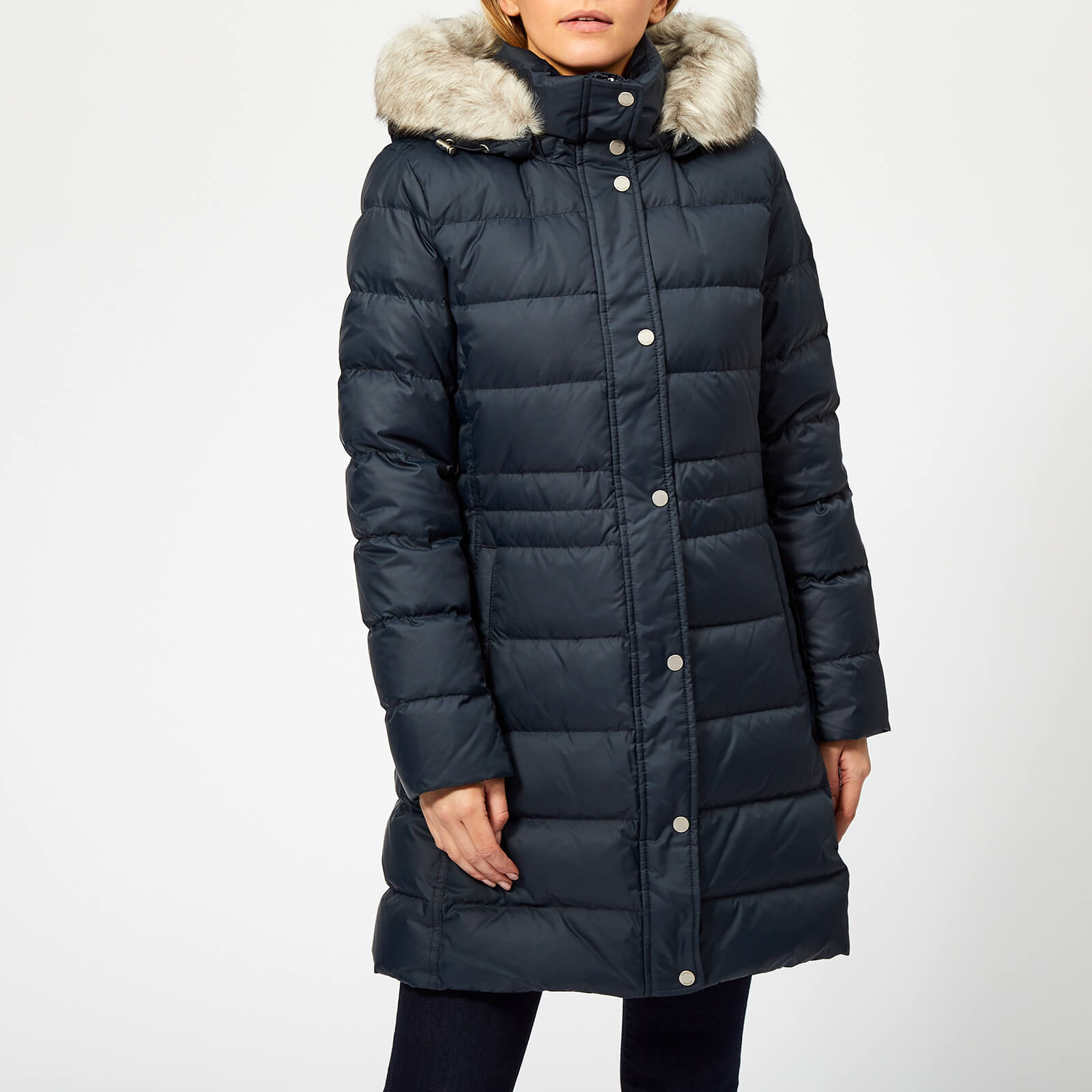 07a850fb Tommy Hilfiger Women's New Tyra Down Coat - Midnight Womens Clothing |  TheHut.com