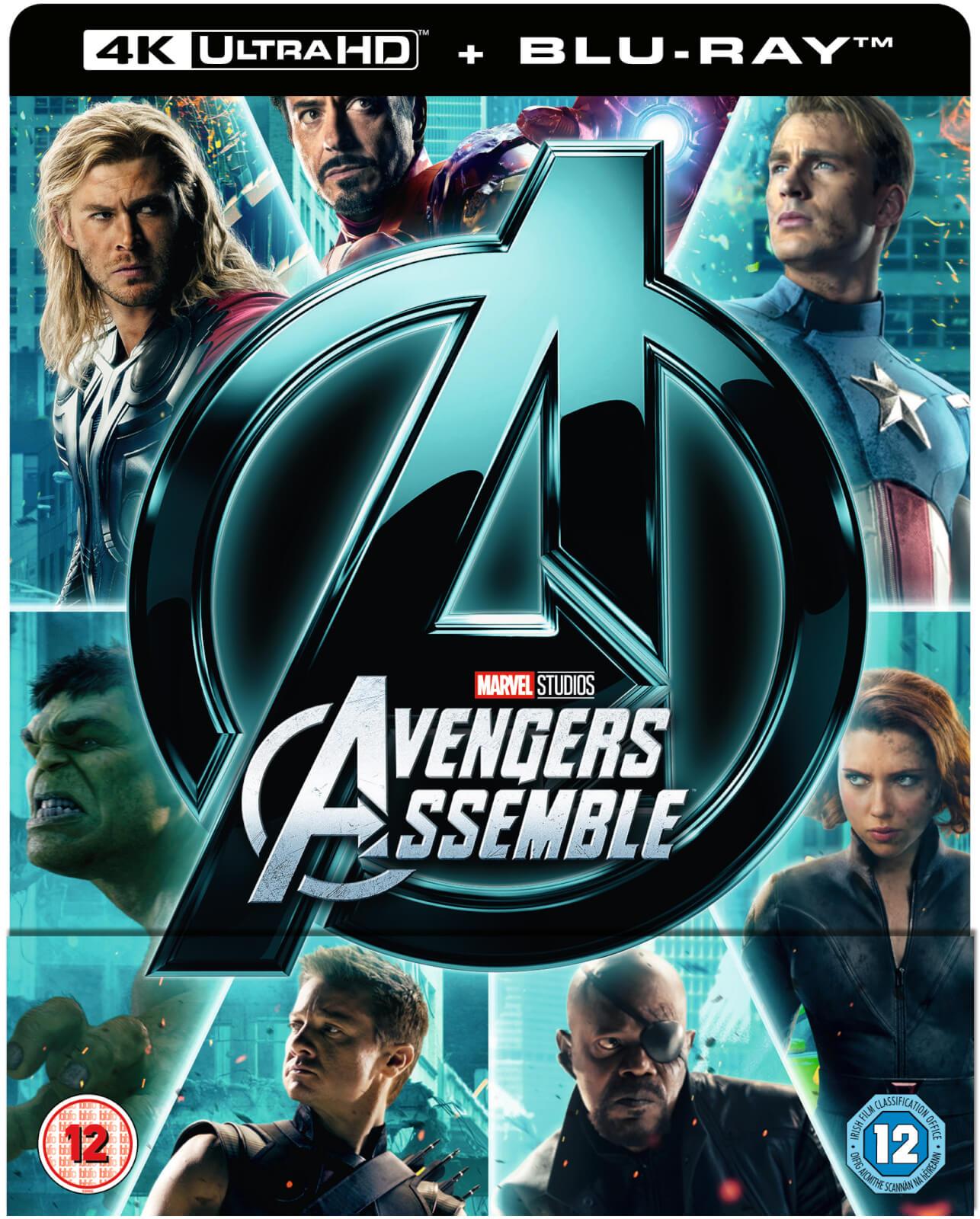 Avengers assemble 4k ultra hd includes 2d version - Avengers a logo 4k ...