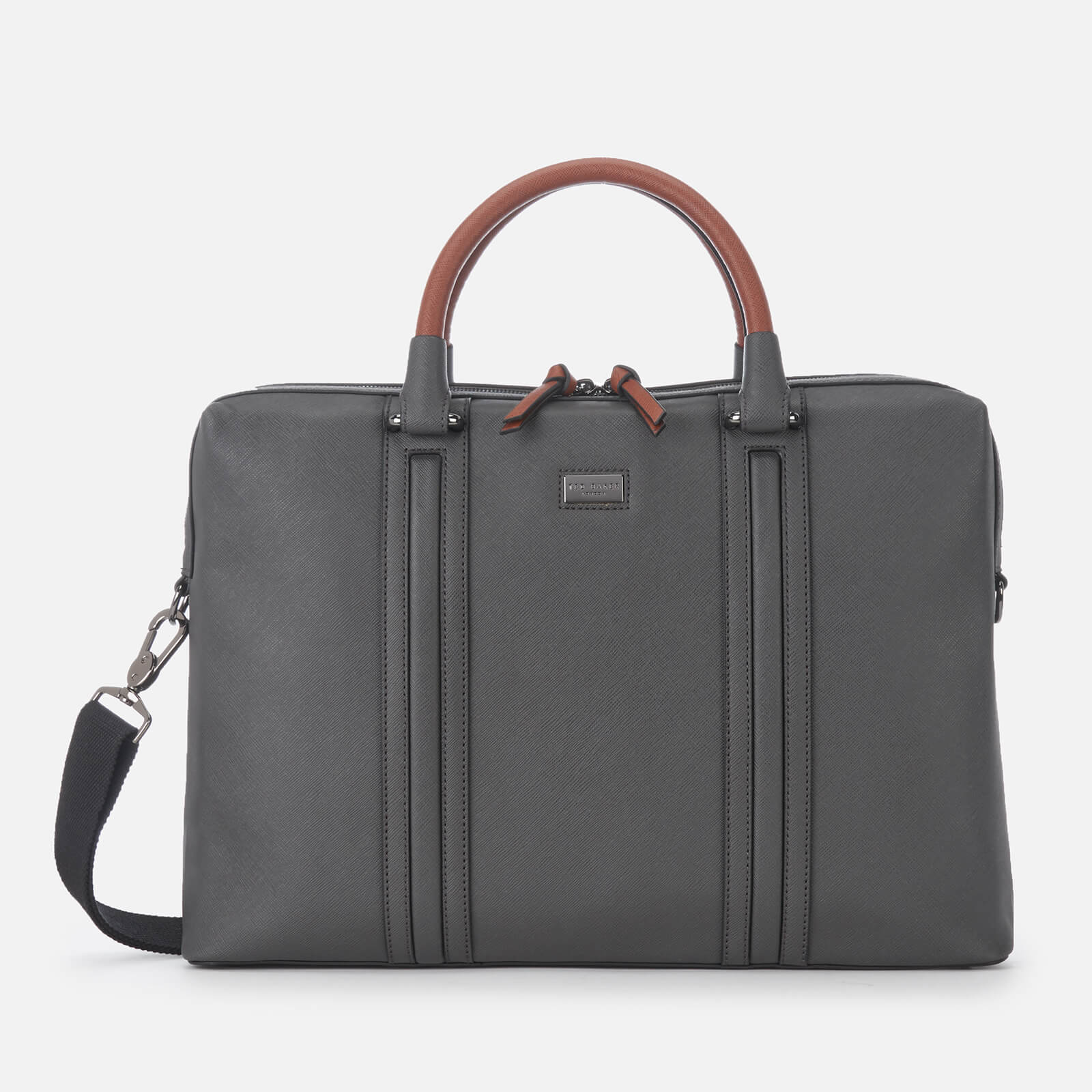 5524a1bcd Ted Baker Men's Giiza Crossgrain Document Bag - Charcoal