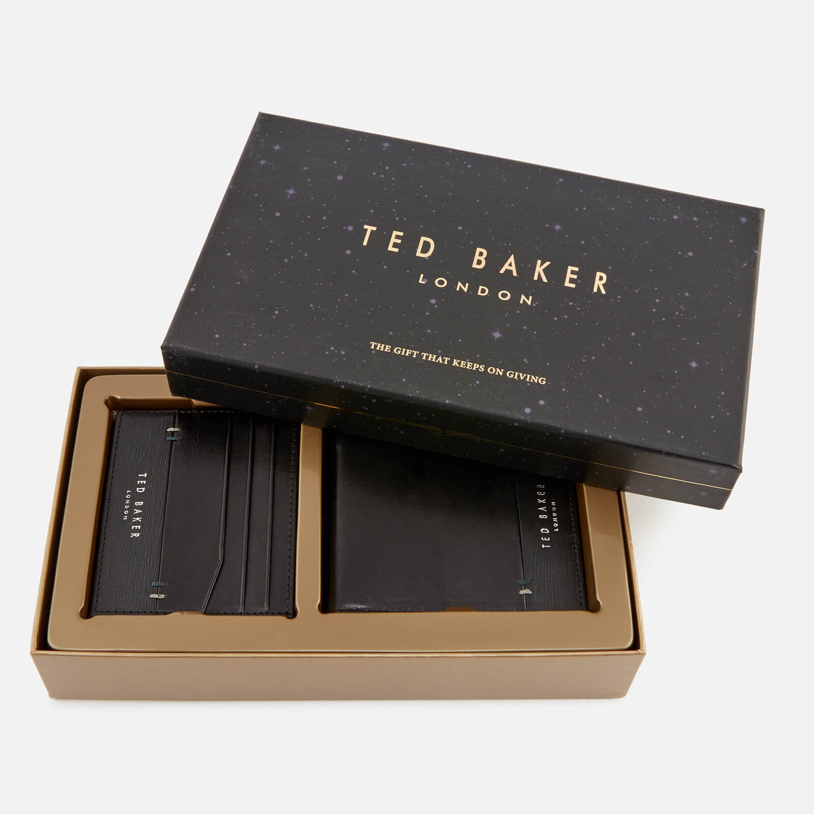f9611e832 Ted Baker Men s Taglee Wallet and Card Holder Giftset - Black Mens  Accessories