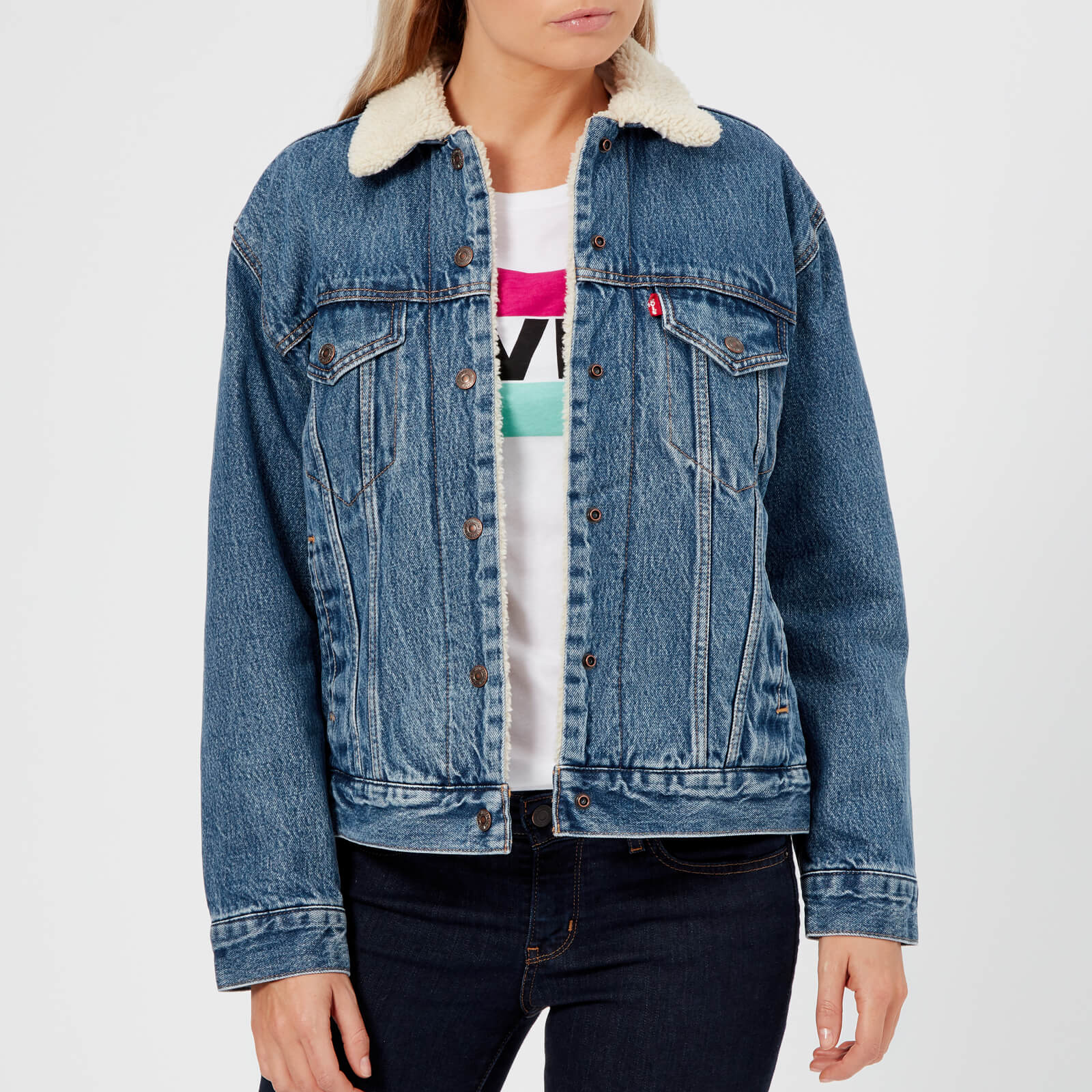 8dea7865 Levi's Women's Ex-Boyfriend Sherpa Trucker Jacket - Addicted To Love Womens  Clothing | TheHut.com