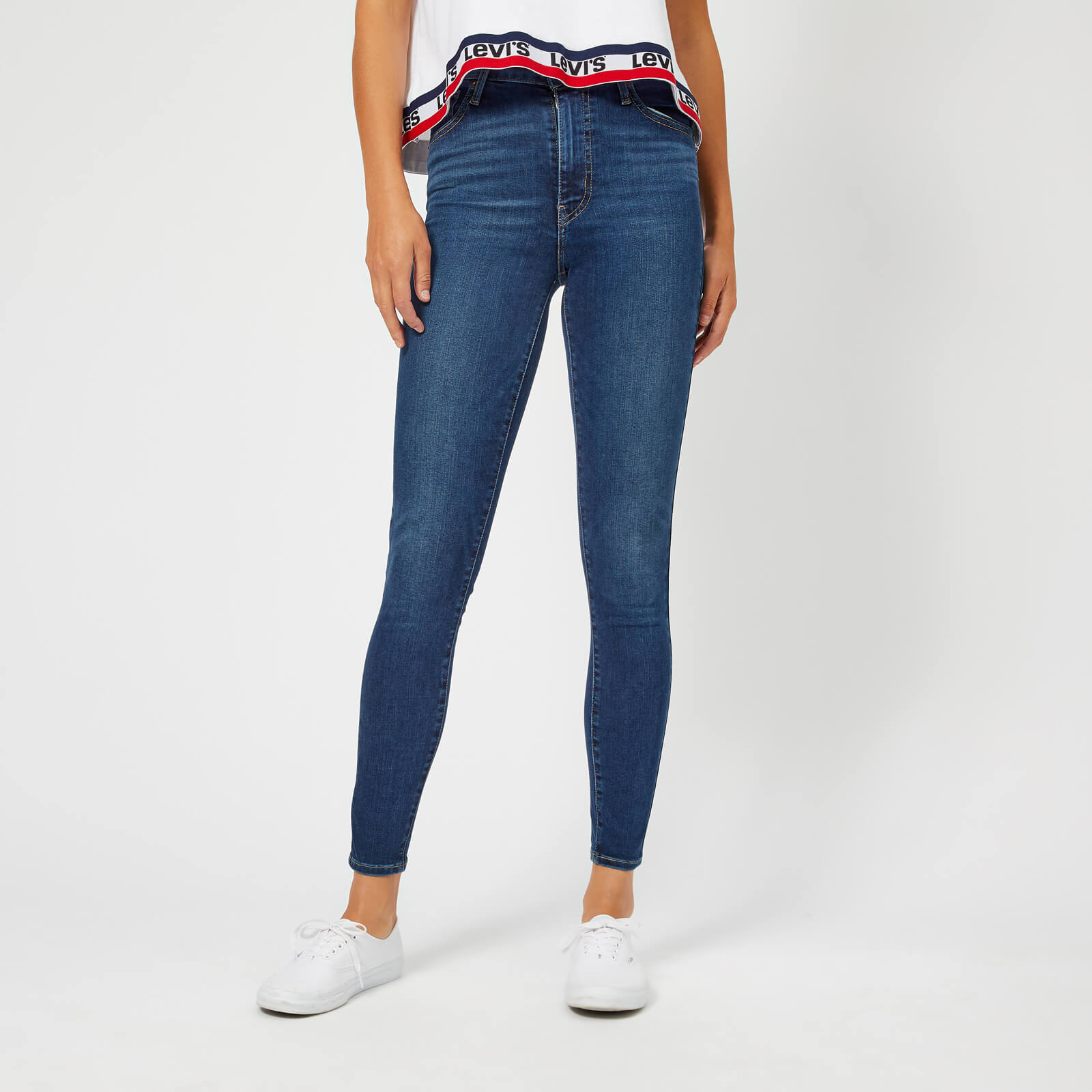 fbfe86ed Levi's Women's Mile High Super Skinny Jeans - Breakthrough Blue Clothing |  TheHut.com