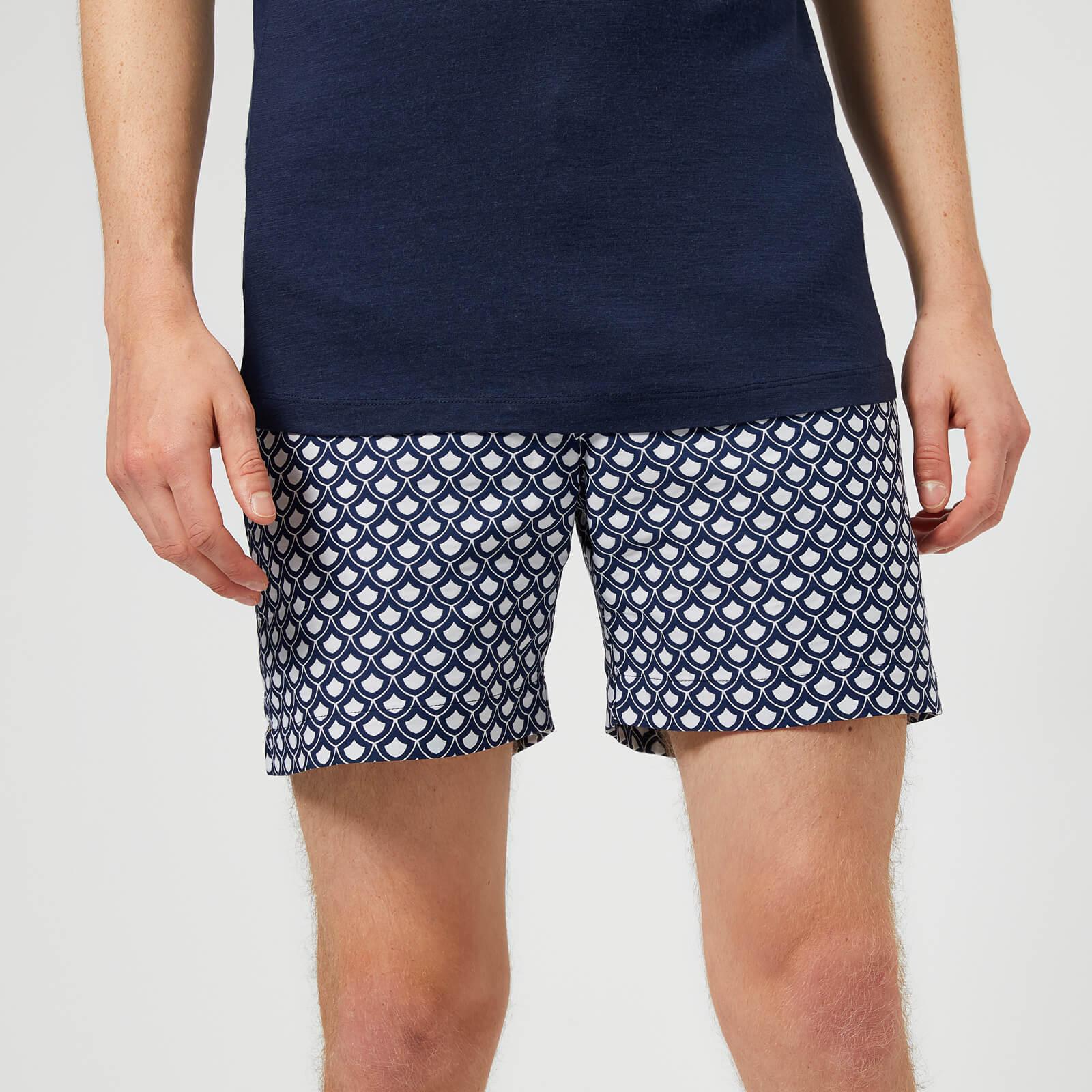 Orlebar Brown Men S Bulldog X Jacquard Swim Shorts Blue Free Uk