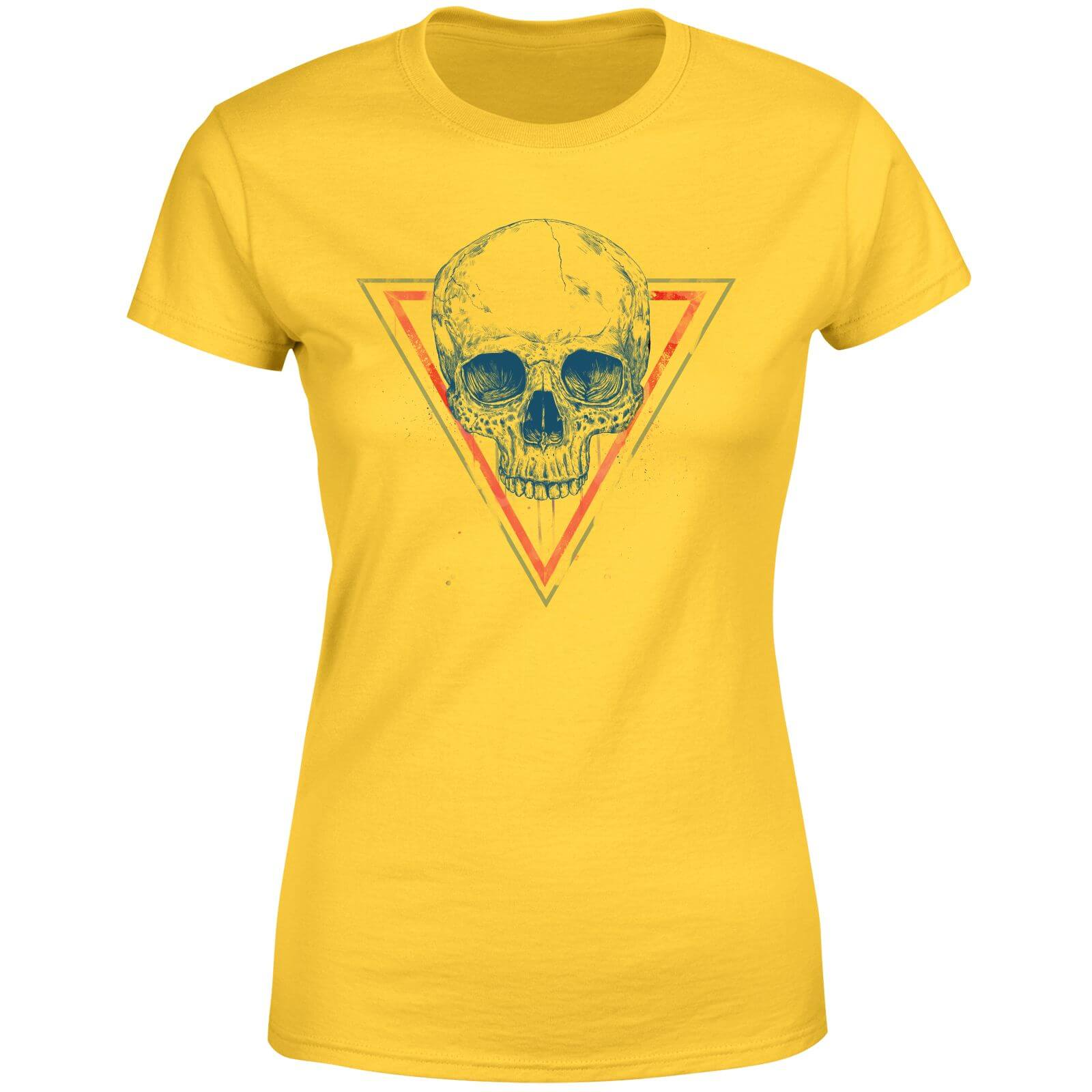 Balazs Solti Skull Women's T-Shirt - Yellow