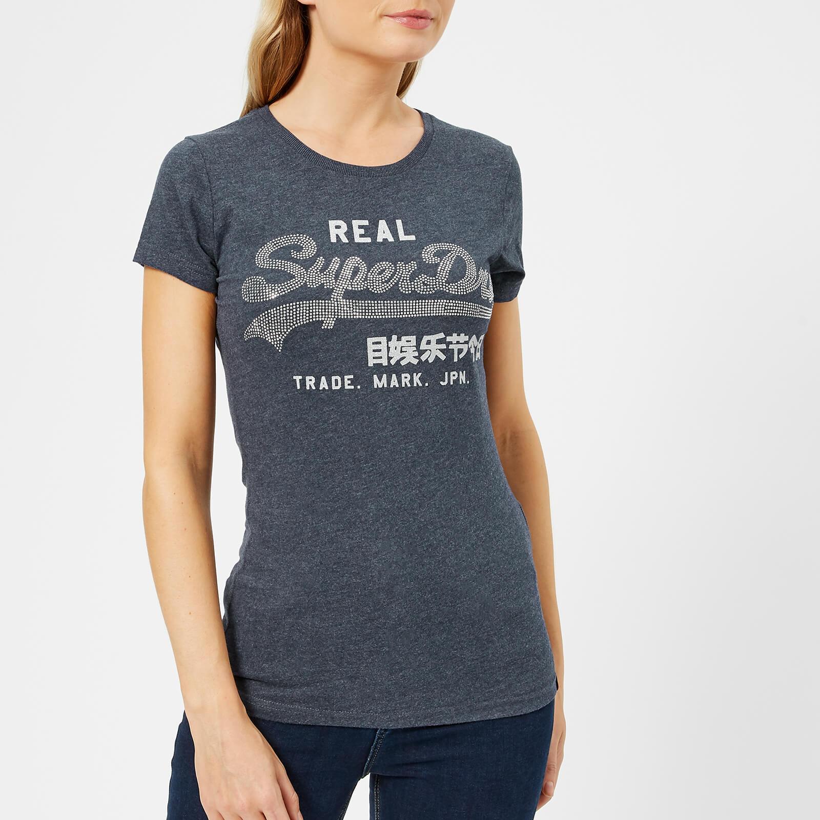 13a24a55 Superdry Women's Vintage Logo Rhinestone Entry T-Shirt - Mood Indigo Marl  Womens Clothing | TheHut.com