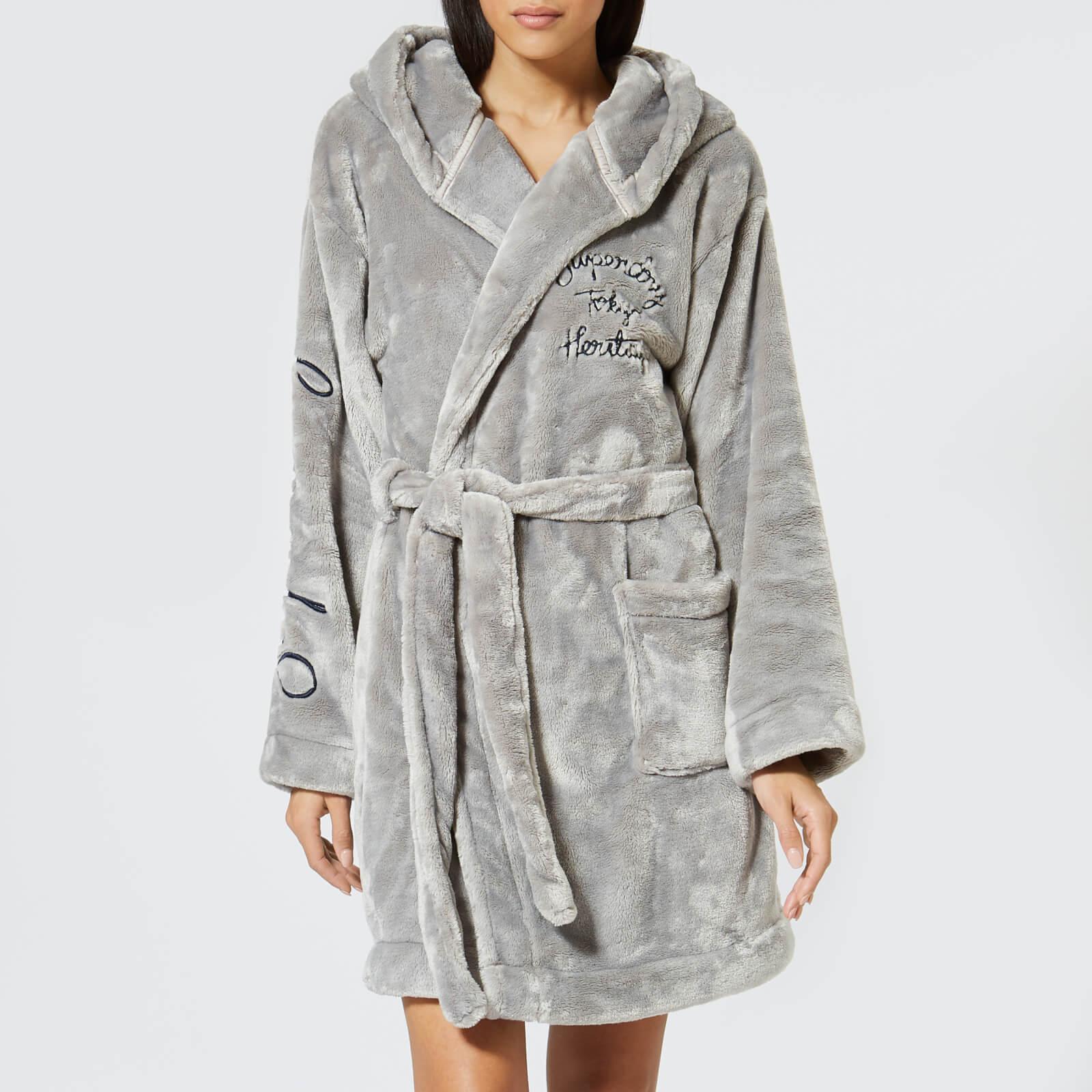 Superdry Women S Sophia Loungewear Robe Sky Grey Clothing Thehut Com