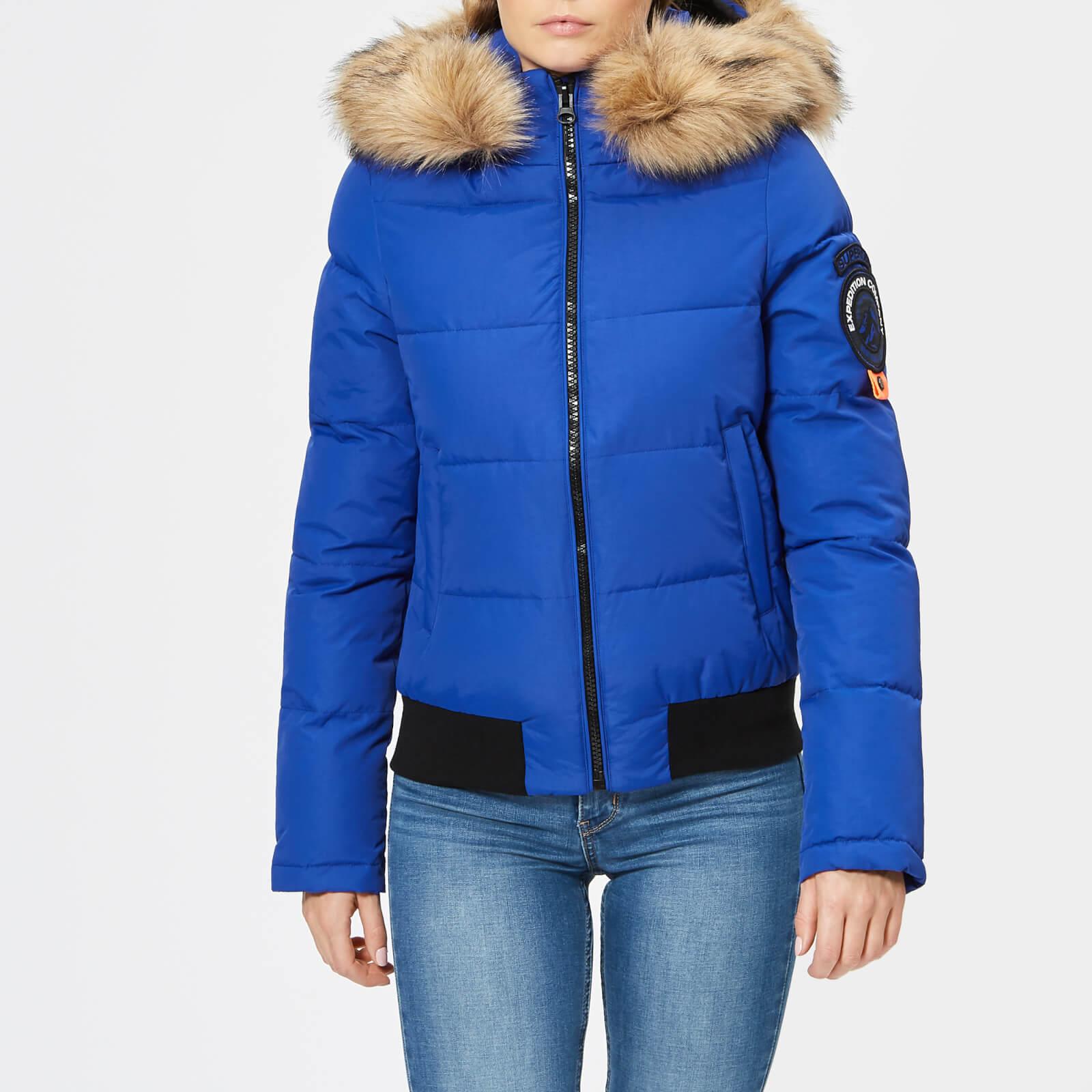 real deal women select for original Superdry Women's Everest Ella Bomber Jacket - Cobalt