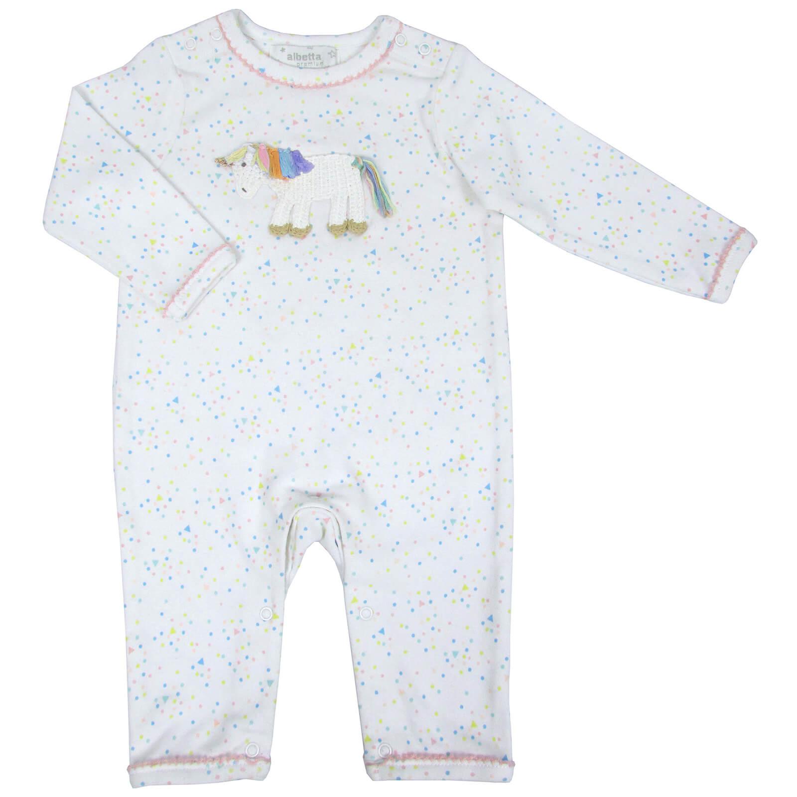 b5d541fe4 Albetta Crochet Rainbow Unicorn Babygrow - 0-3 Months Clothing ...