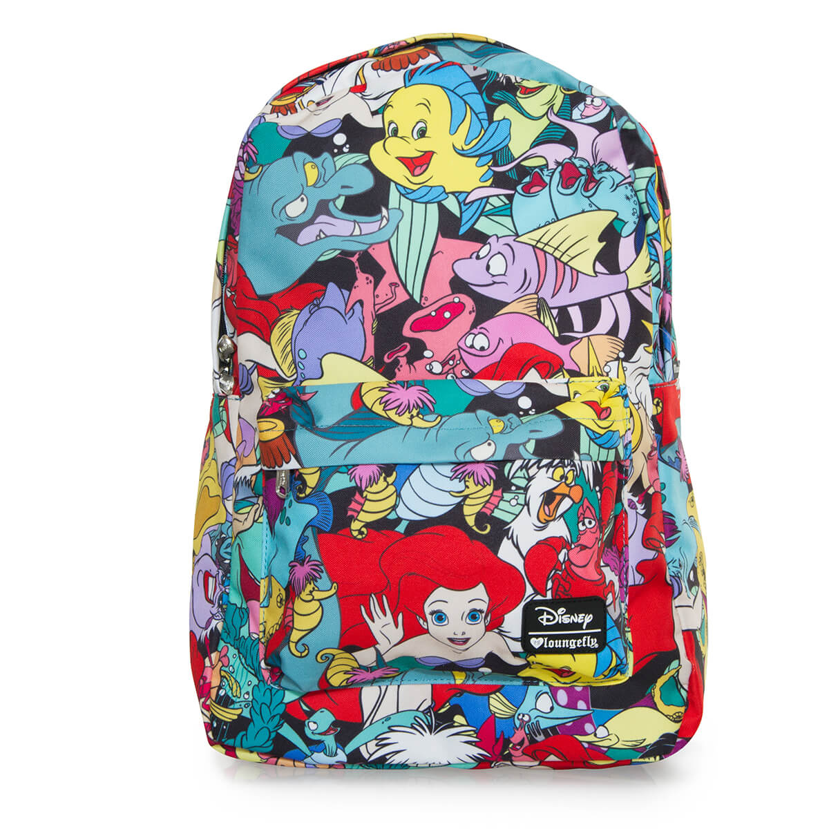 e8b39654081 Loungefly Disney The Little Mermaid Ariel Characters AOP Backpack.  Description