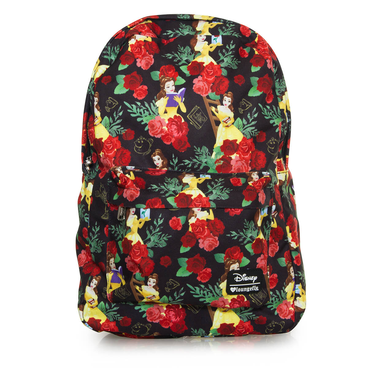 b5e3cb27820 Loungefly Disney Beauty and the Beast Belle Roses AOP Backpack