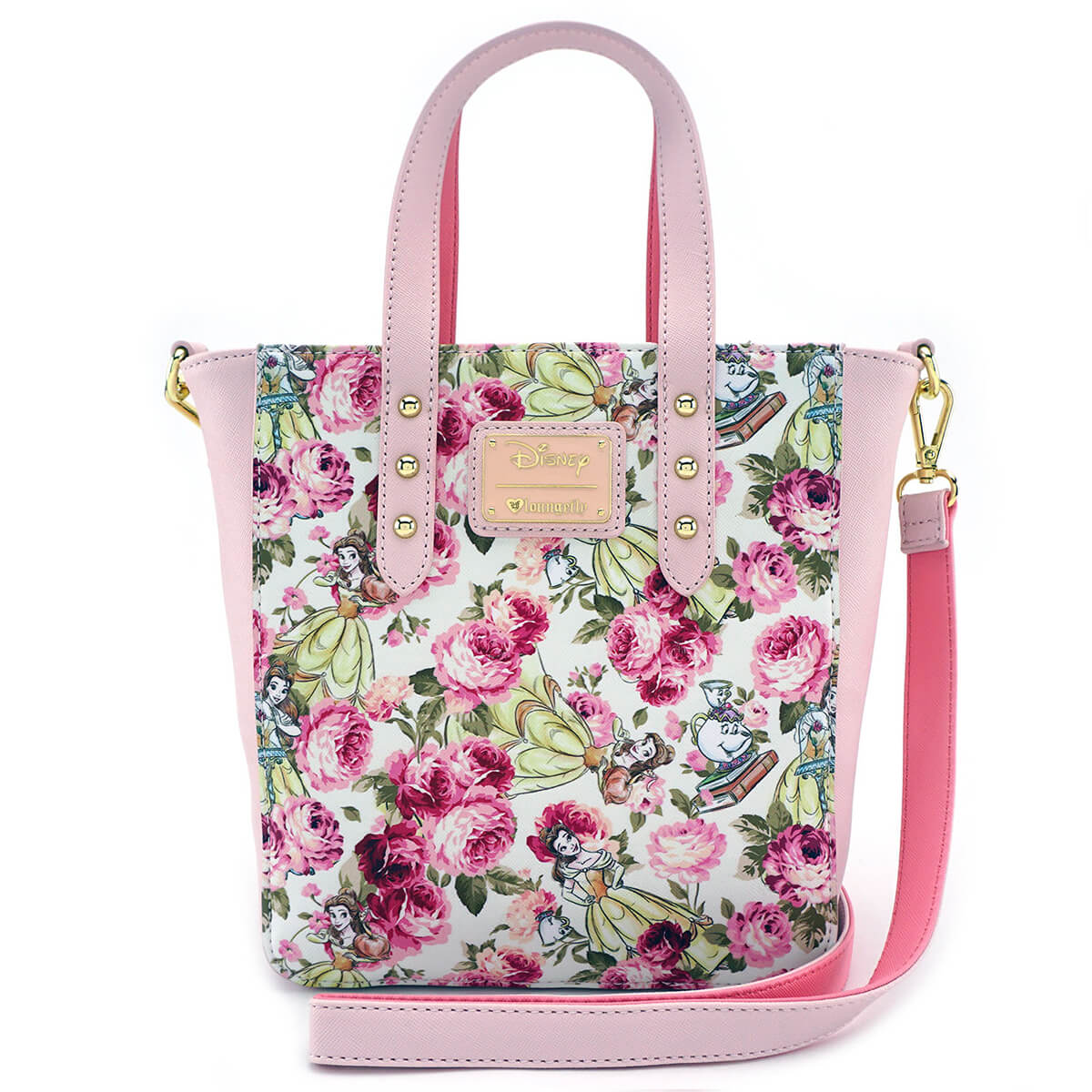 f3949cee794 Loungefly Disney Beauty and the Beast Character Floral AOP Tote Bag.  Description